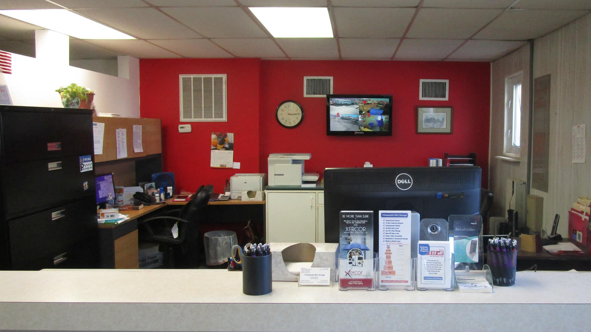 Leasing office at Self Storage Plus in Middle River, Maryland