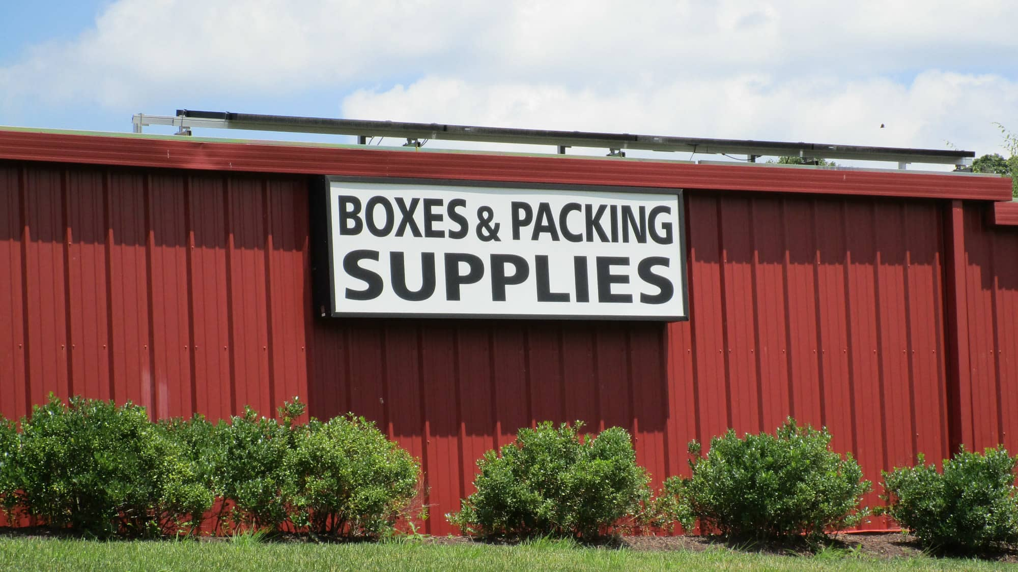 Supplies sign at New Market Mini Storage in New Market, Maryland