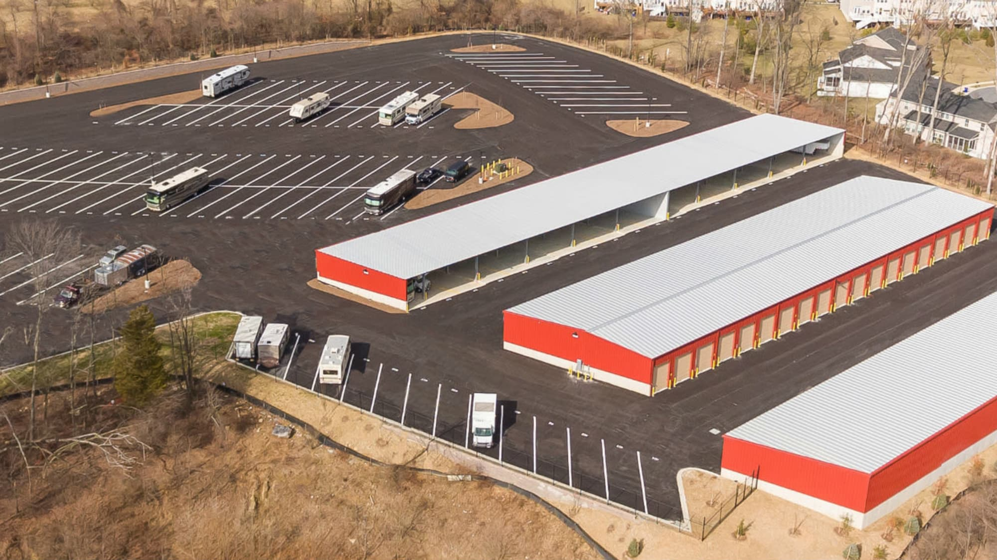 View of New Market Mini Storage in New Market, Maryland from above