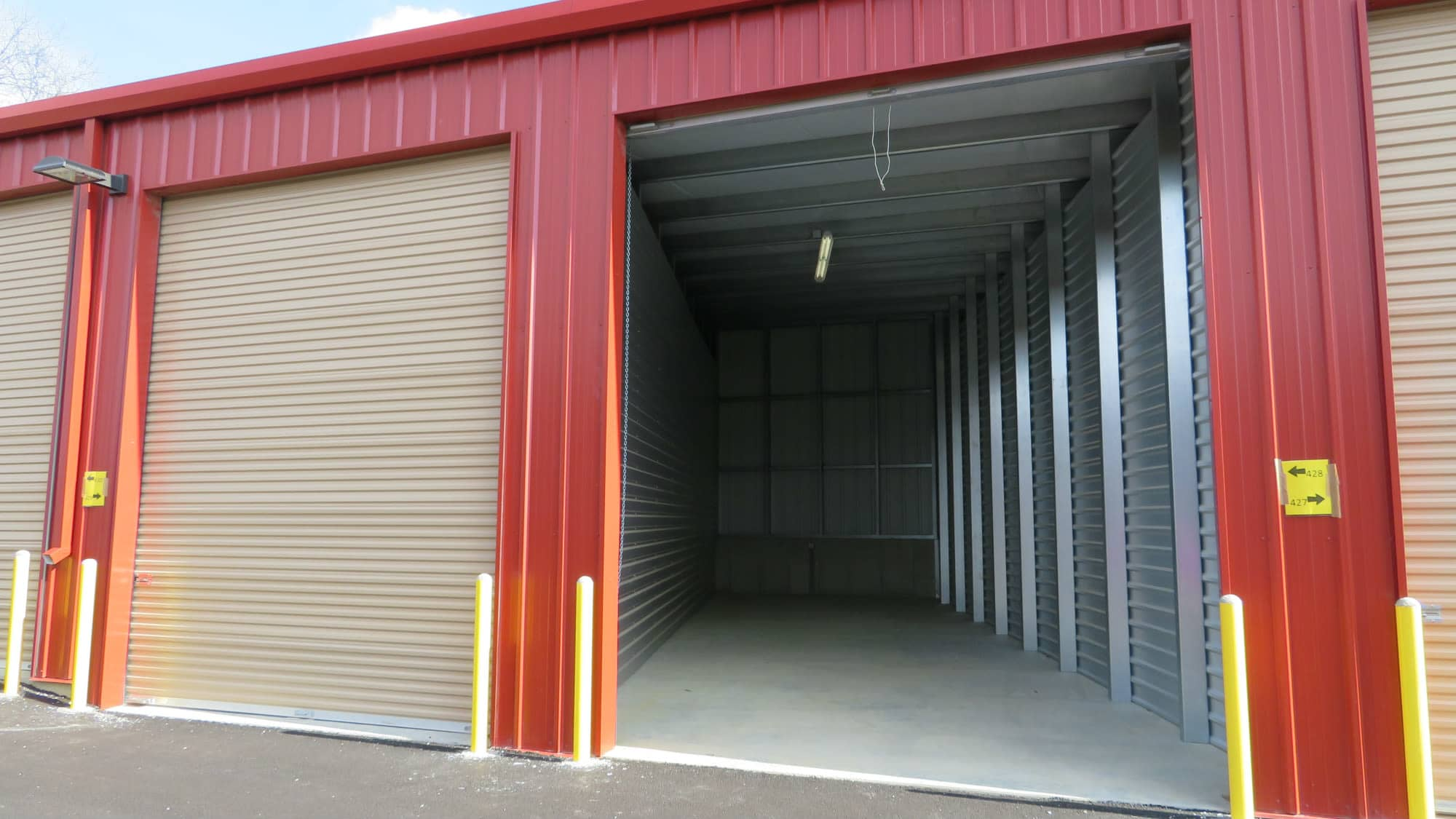 Drive-up unit at New Market Mini Storage in New Market, Maryland