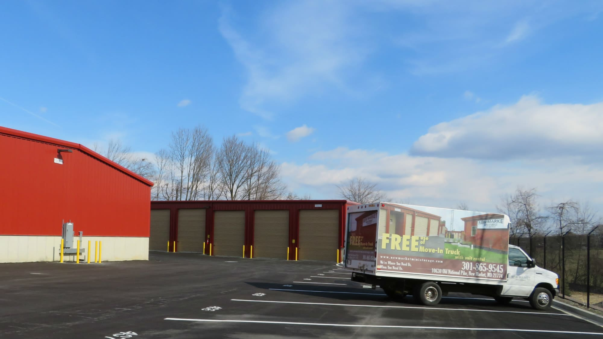Moving truck at New Market Mini Storage in New Market, Maryland