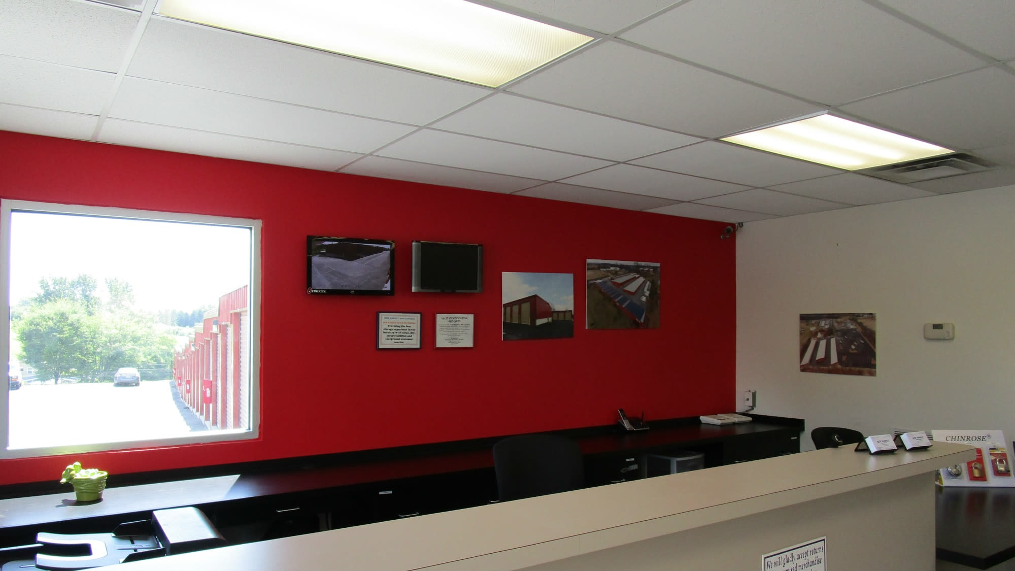 Leasing office at New Market Mini Storage in New Market, Maryland