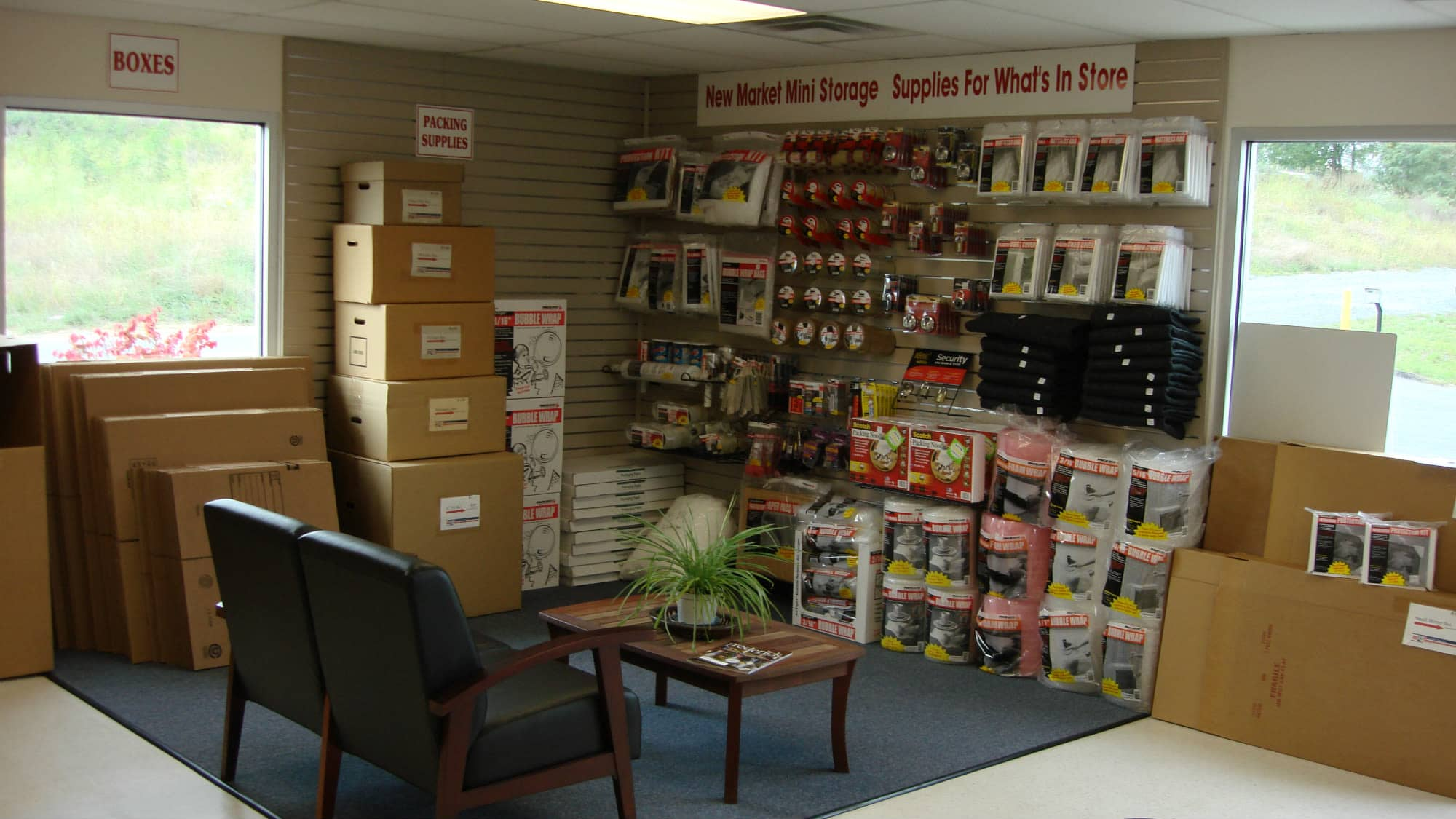 Packing and moving supplies for sale at New Market Mini Storage in New Market, Maryland
