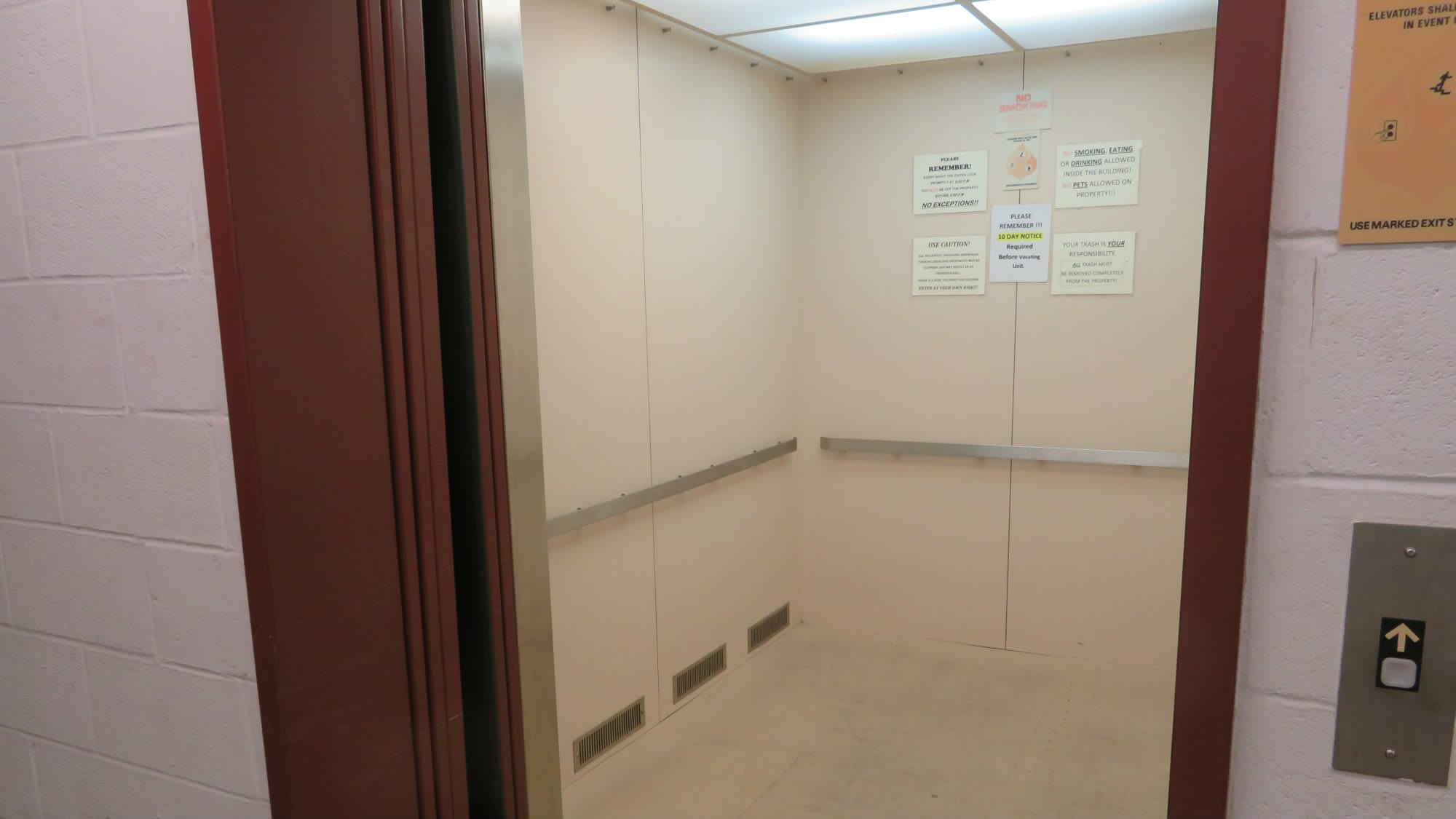 Elevator access at Odenton Self Storage in Odenton, Maryland