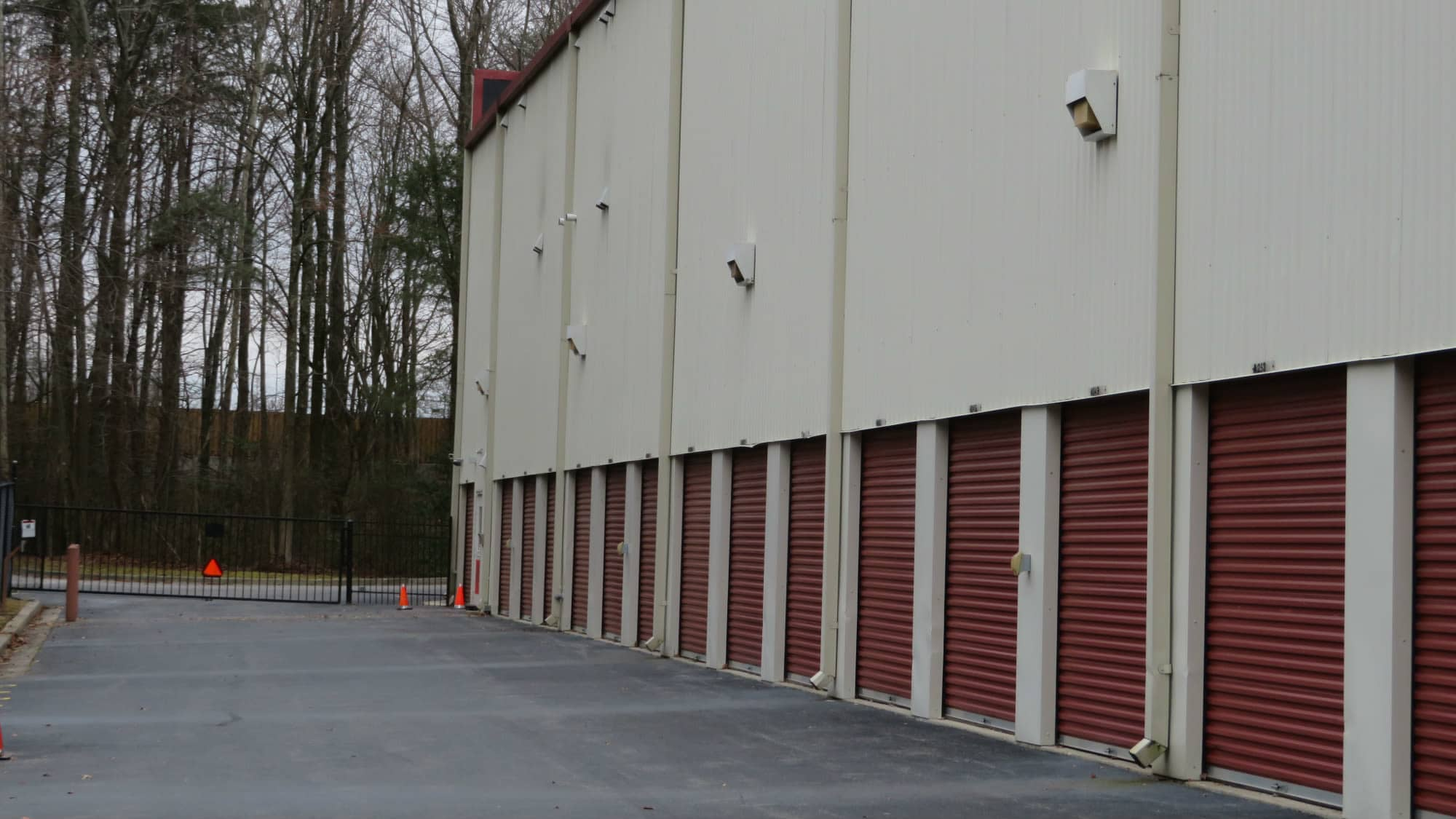Exterior units at Odenton Self Storage in Odenton, Maryland