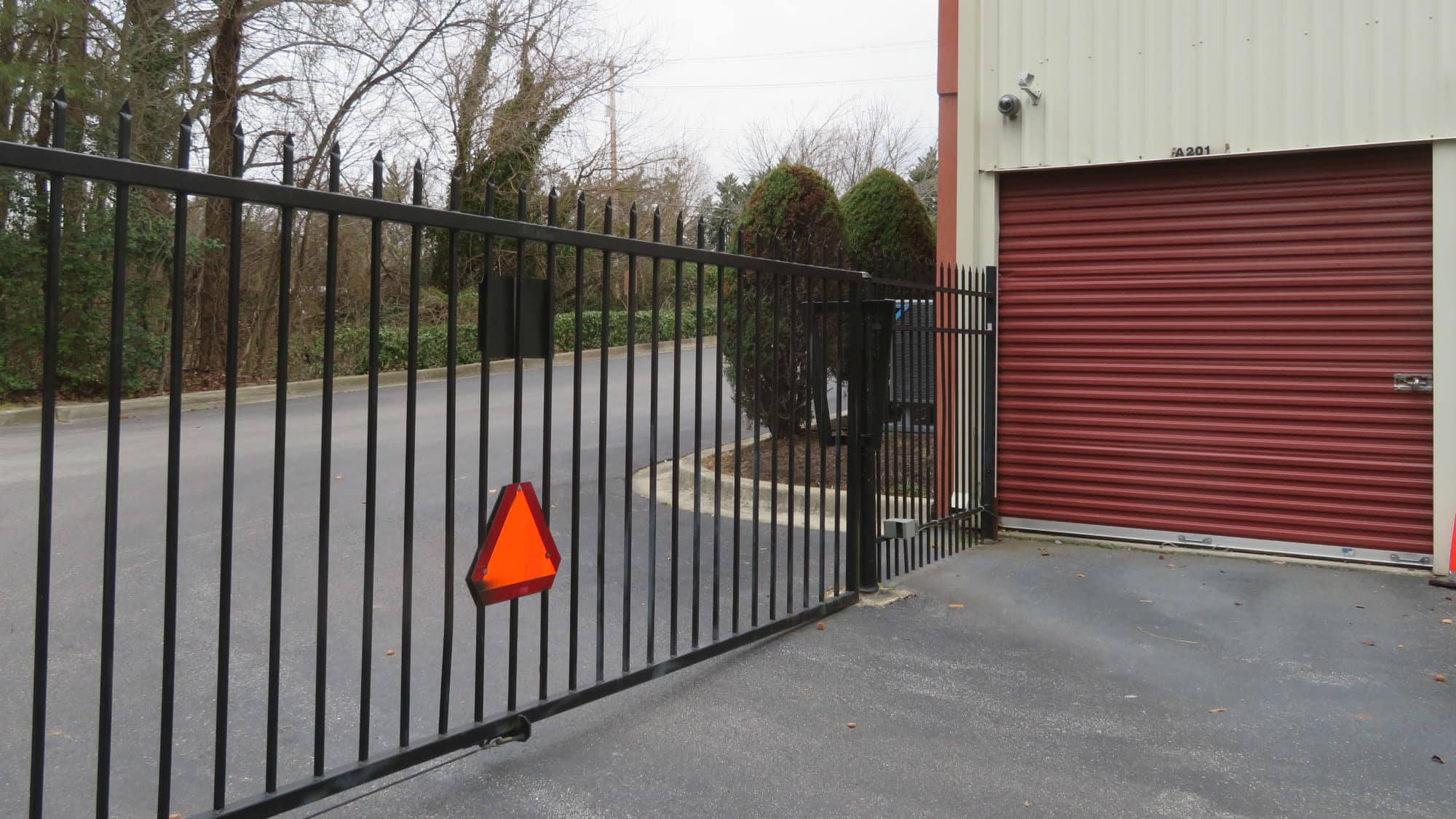 Exit gate at Odenton Self Storage in Odenton, Maryland