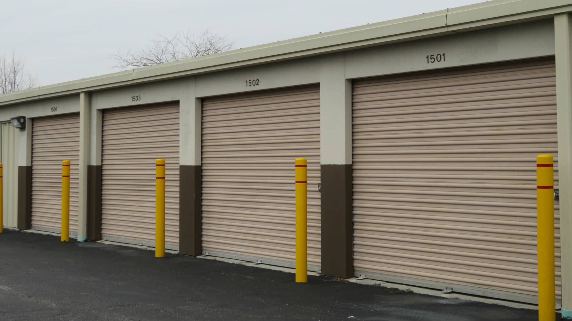 Drive-up units at Seabrook Self Storage in Seabrook, Maryland