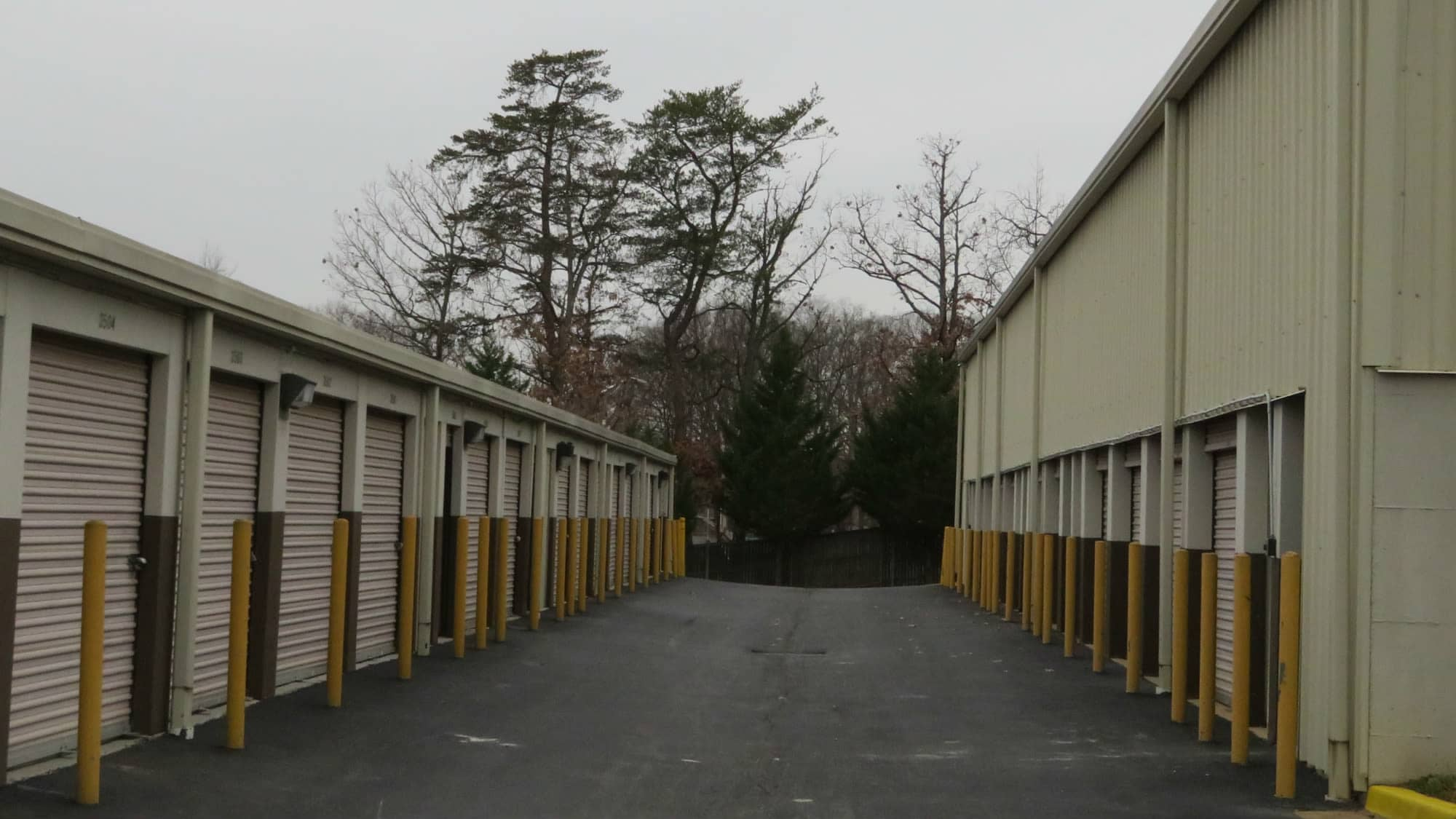 Large driveways at Seabrook Self Storage in Seabrook, Maryland