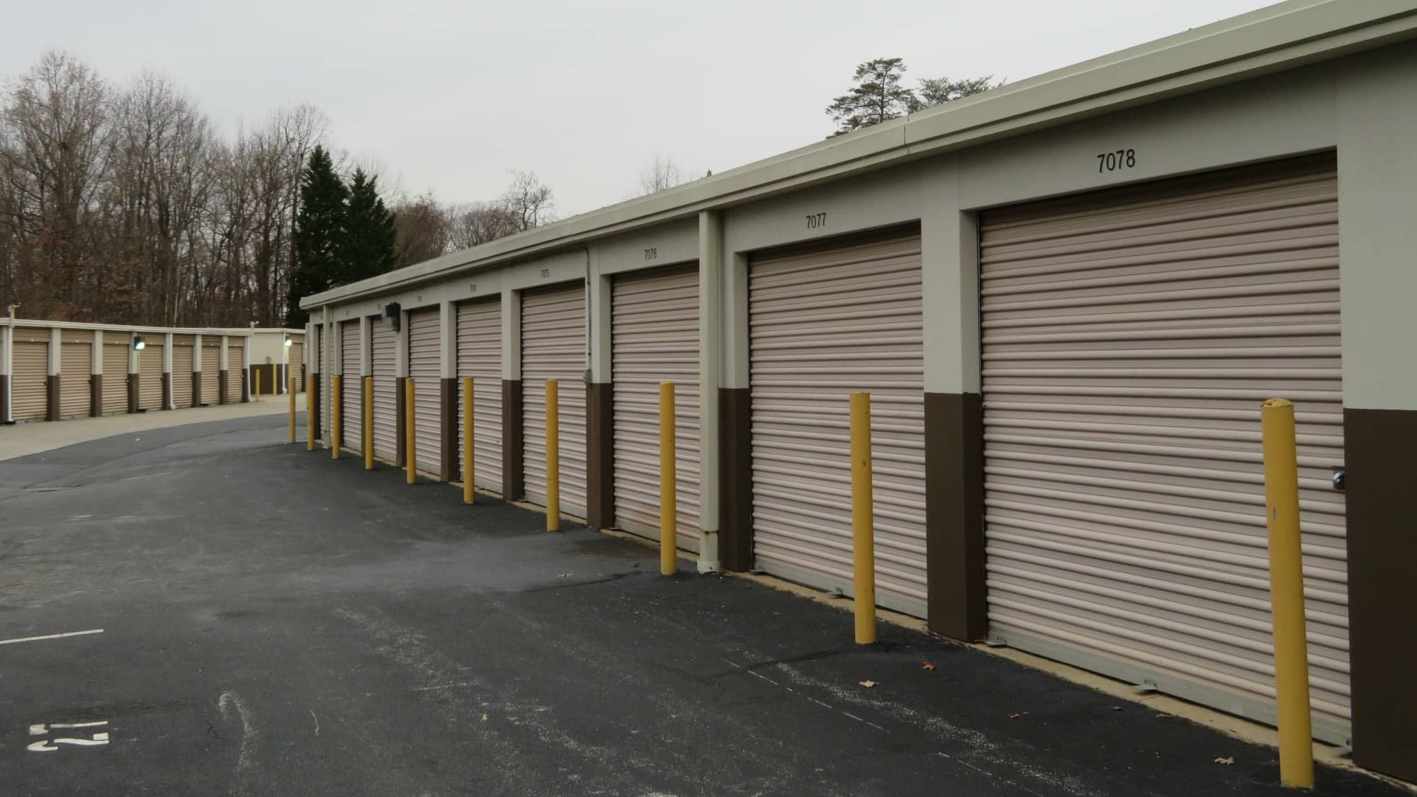 Ground-level units at Seabrook Self Storage in Seabrook, Maryland