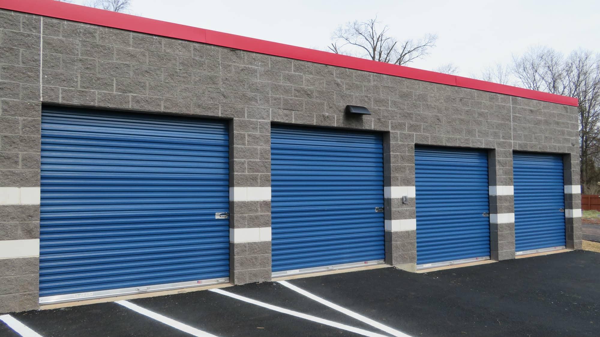 Large roll-up door at Park 'N' Space Self Storage in Manassas, Virginia