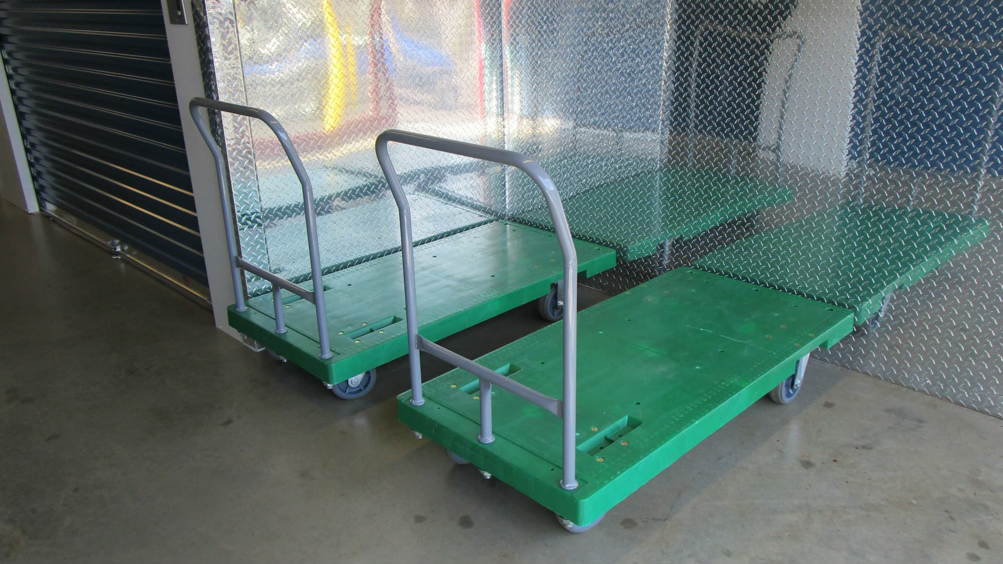 Carts available for use at Park 'N' Space Self Storage in Manassas, Virginia