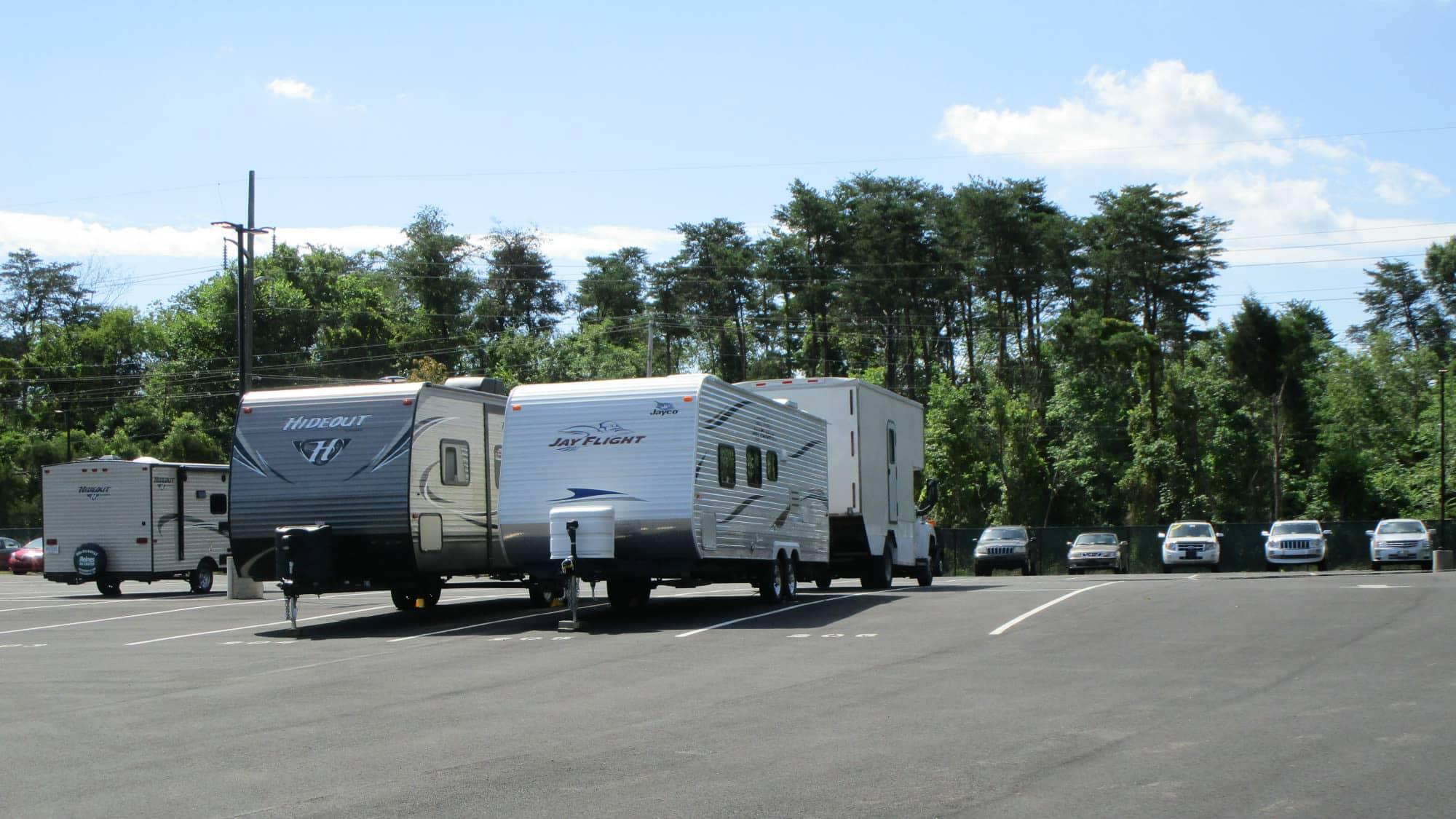 RV parking at Park 'N' Space Self Storage in Manassas, Virginia