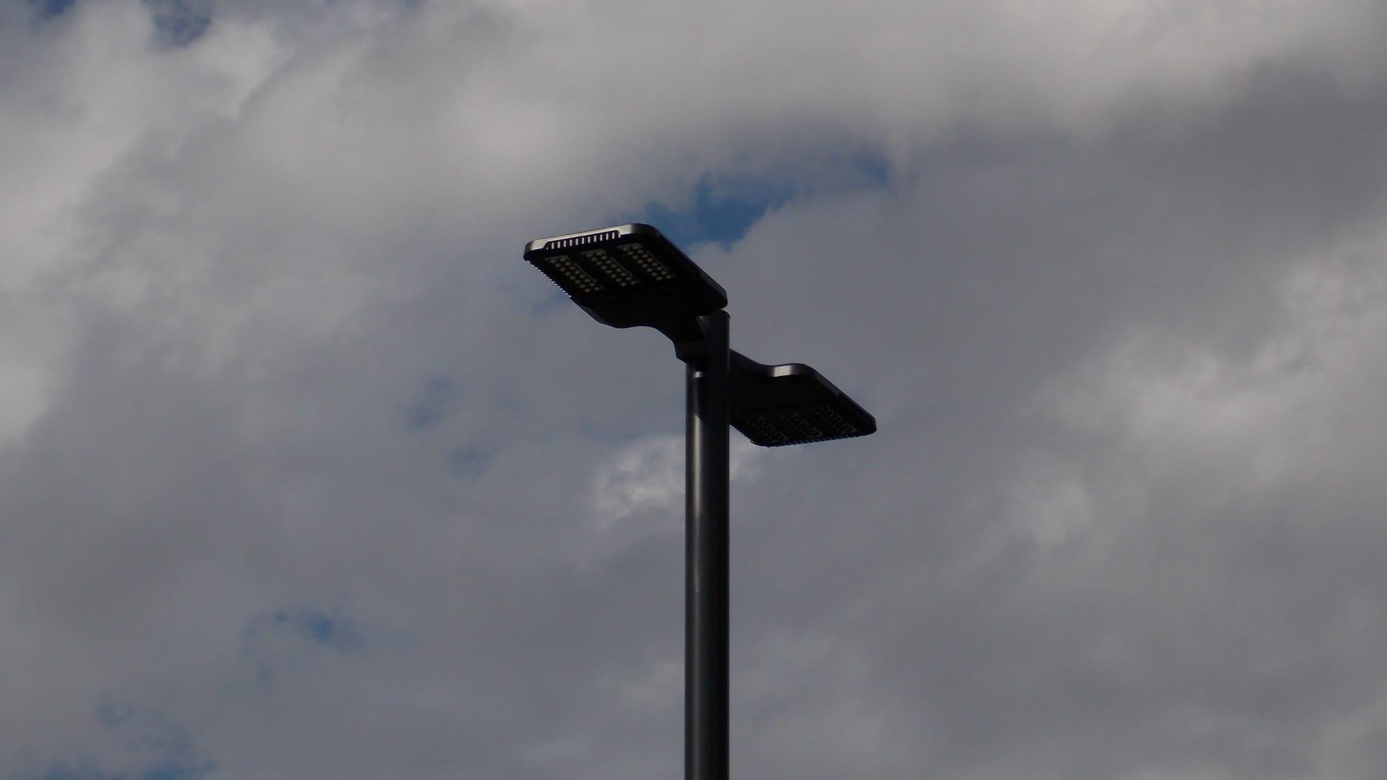 Tower lights at Park 'N' Space Self Storage in Manassas, Virginia