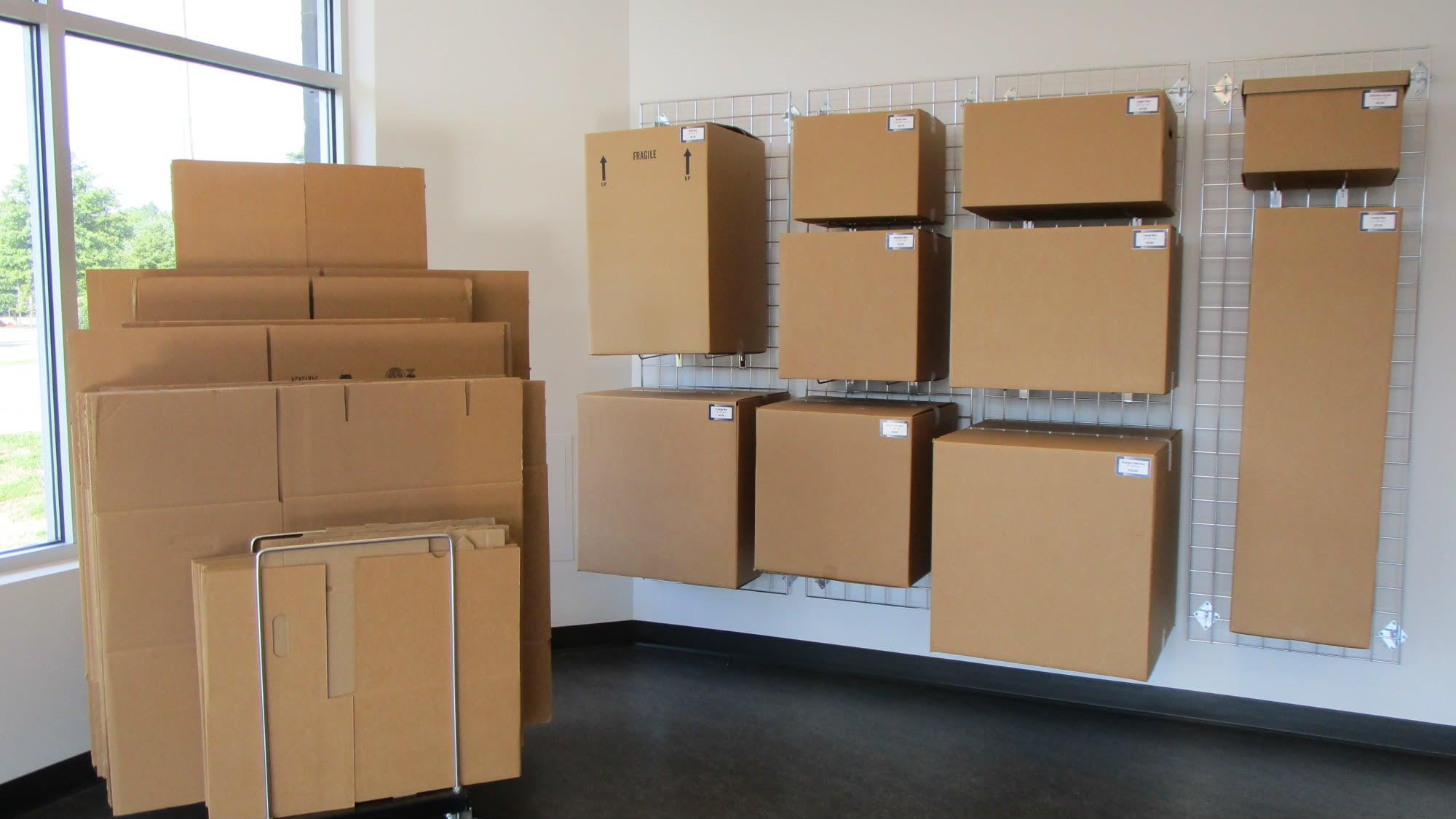 Boxes for sale at Park 'N' Space Self Storage in Manassas, Virginia