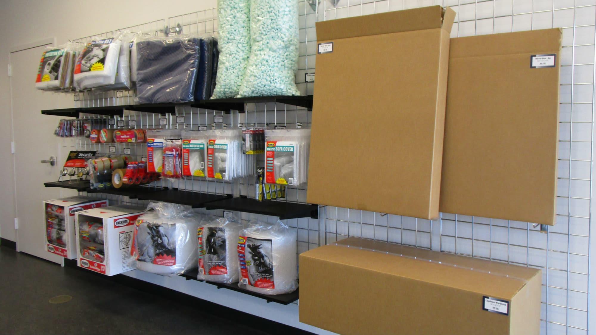 Packing supplies at Park 'N' Space Self Storage in Manassas, Virginia