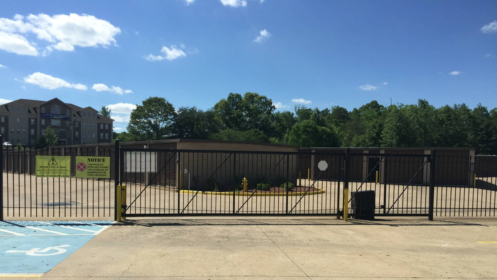 Entrance gate at Triangle Self Storage in Triangle, Virginia