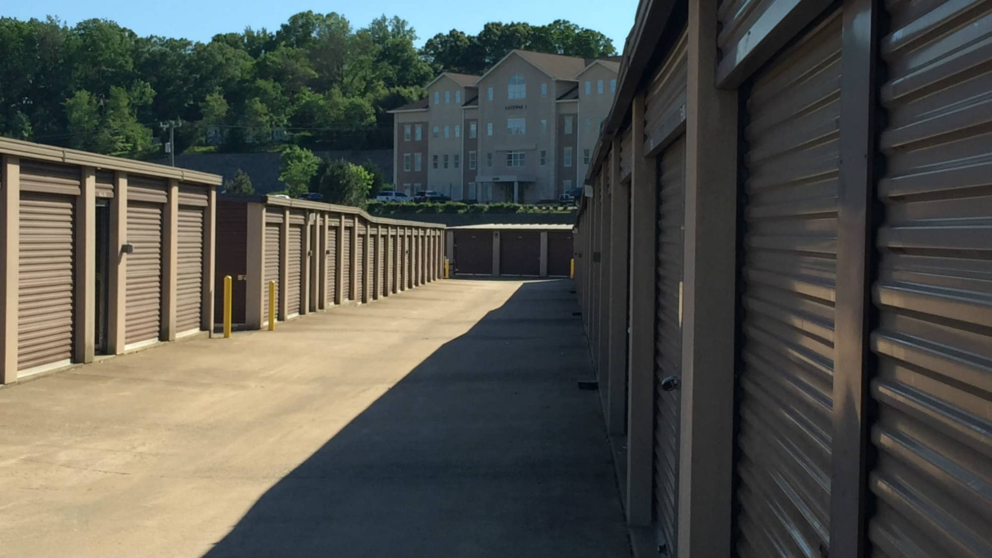 Drive-up units at Triangle Self Storage in Triangle, Virginia