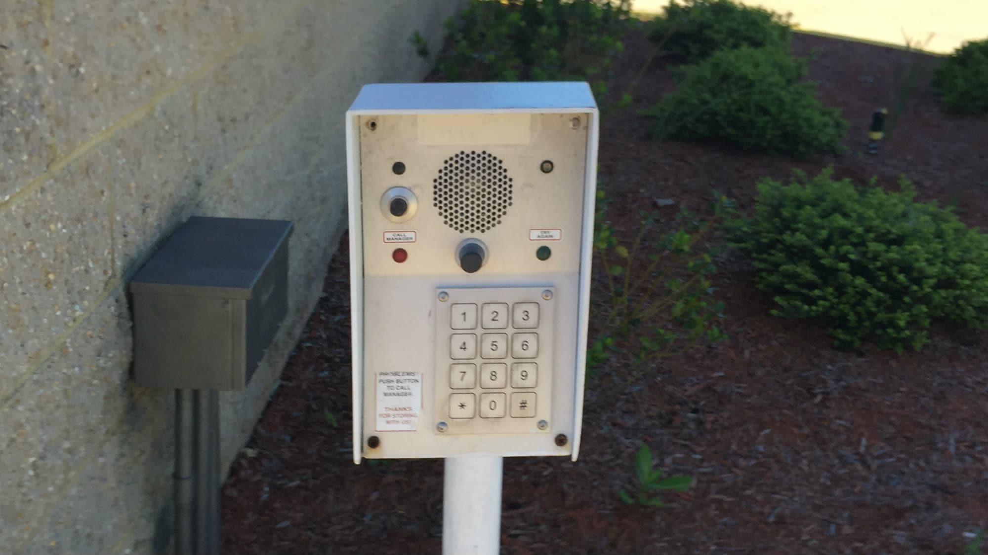 Keypad at Triangle Self Storage in Triangle, Virginia