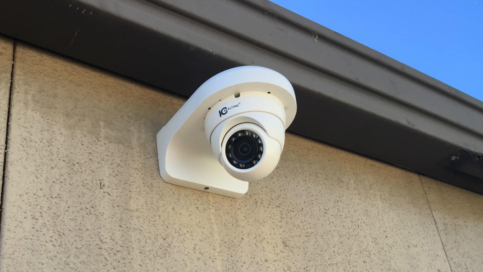 Security camera at Triangle Self Storage in Triangle, Virginia
