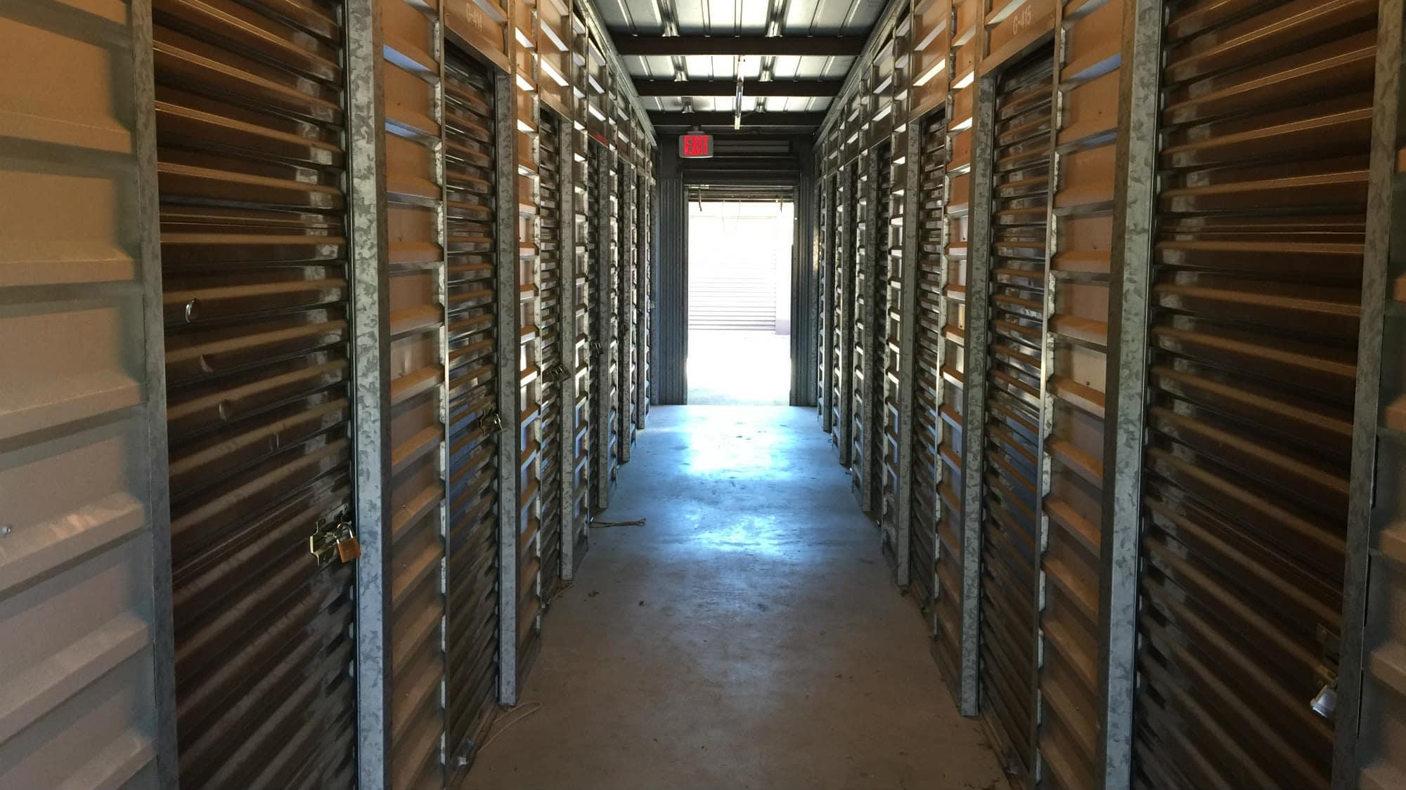 Interior units at Triangle Self Storage in Triangle, Virginia