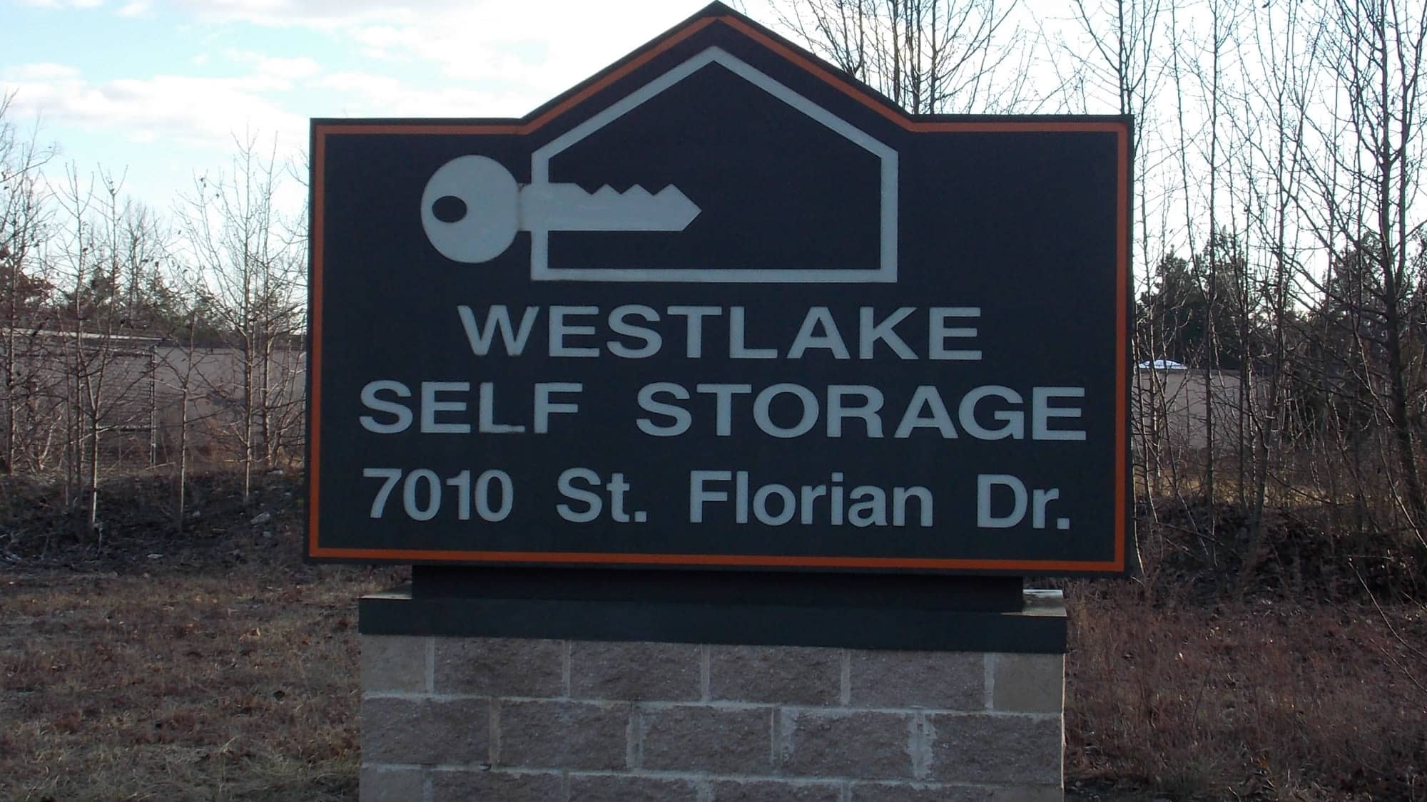 Welcome sign at Westlake Self Storage in Waldorf, MD