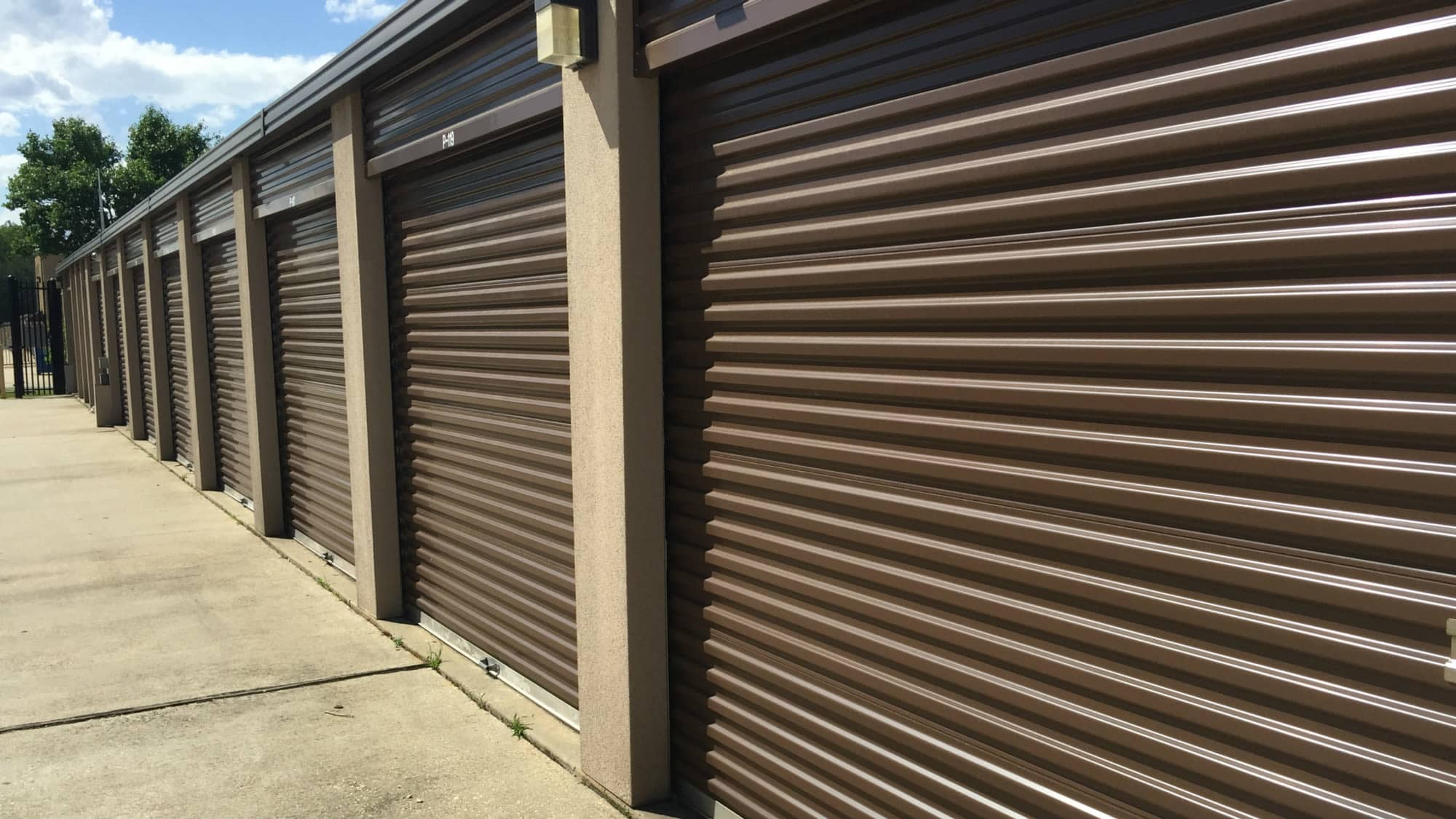 Roll-up storage doors at Westlake Self Storage in Waldorf, MD