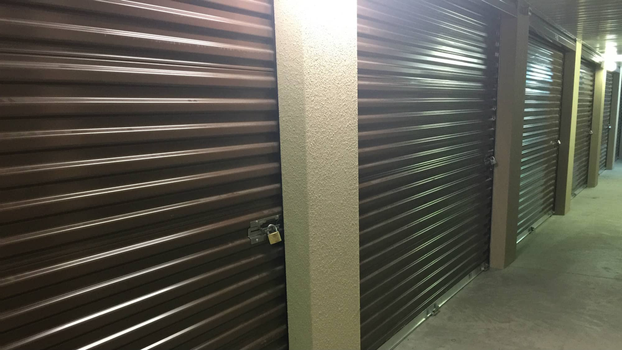 Well-lit hallways at Westlake Self Storage in Waldorf, MD