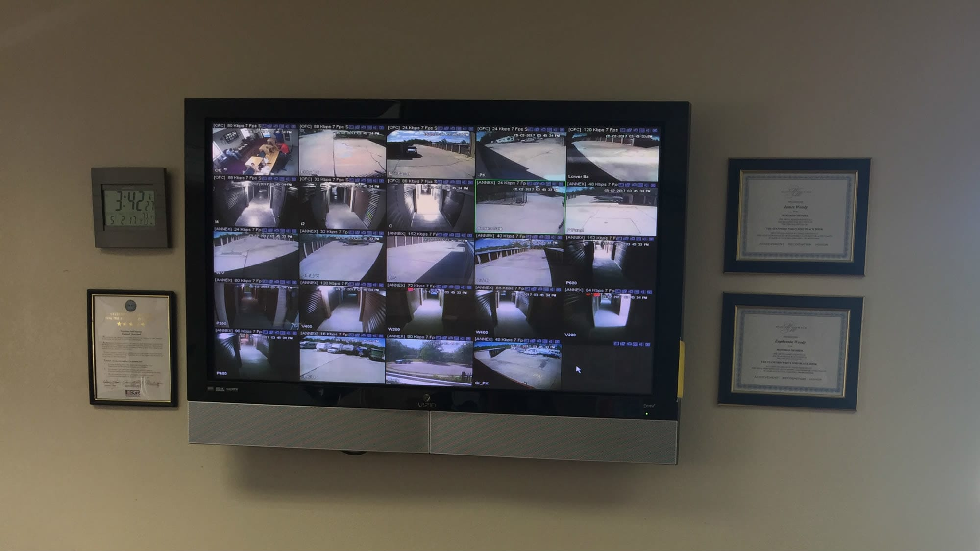 Security monitor at Westlake Self Storage in Waldorf, MD