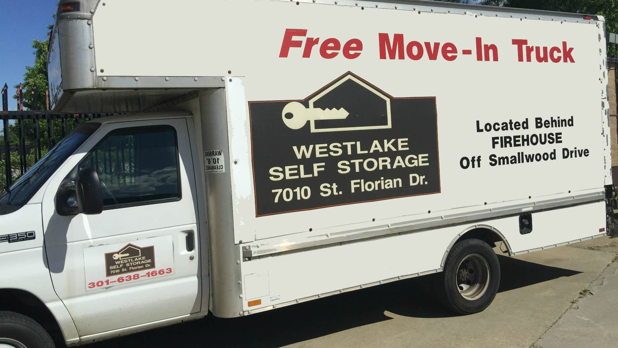 Moving truck available at Westlake Self Storage in Waldorf, MD
