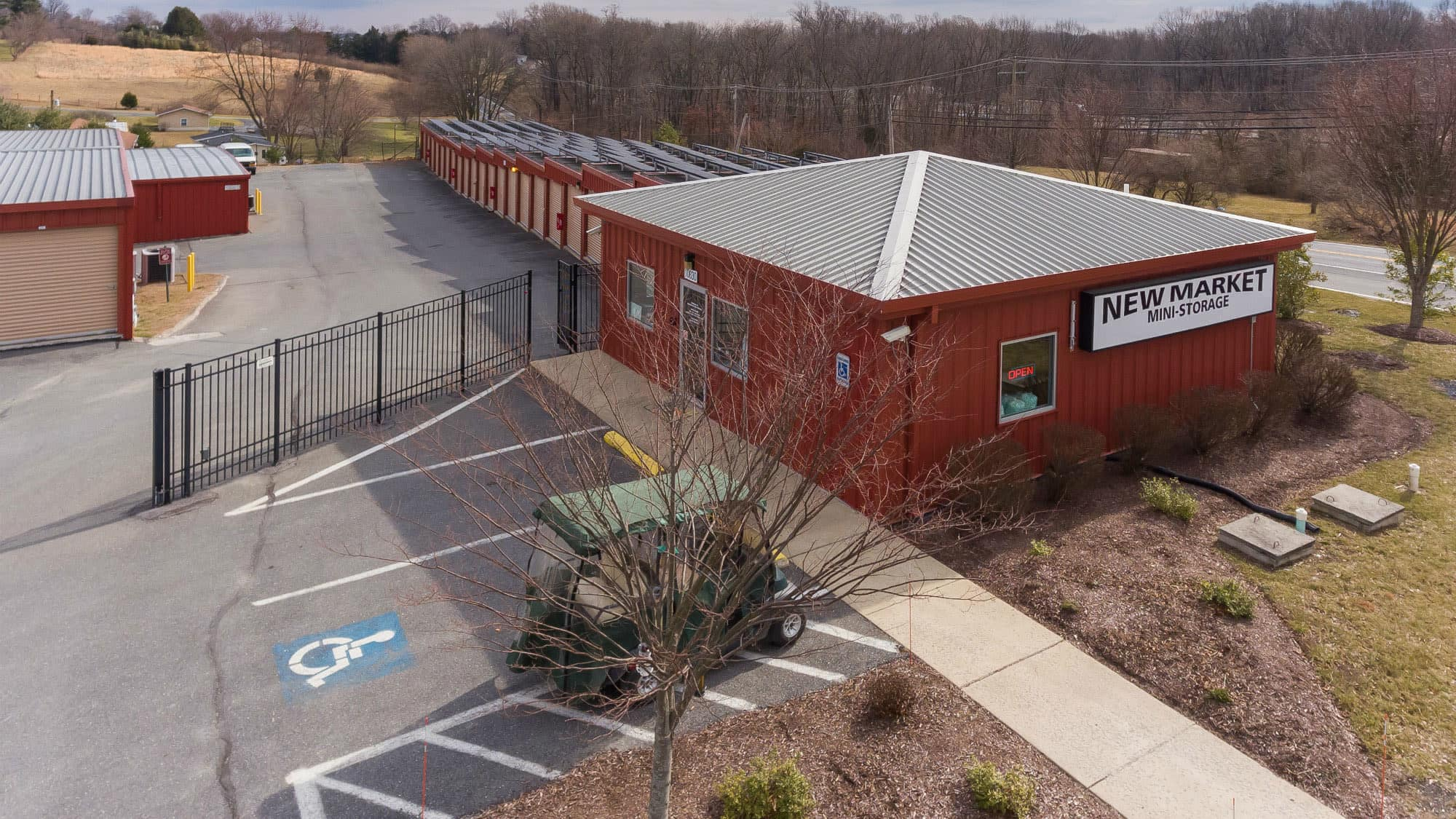Aerial view of New Market Mini Storage in New Market, Maryland