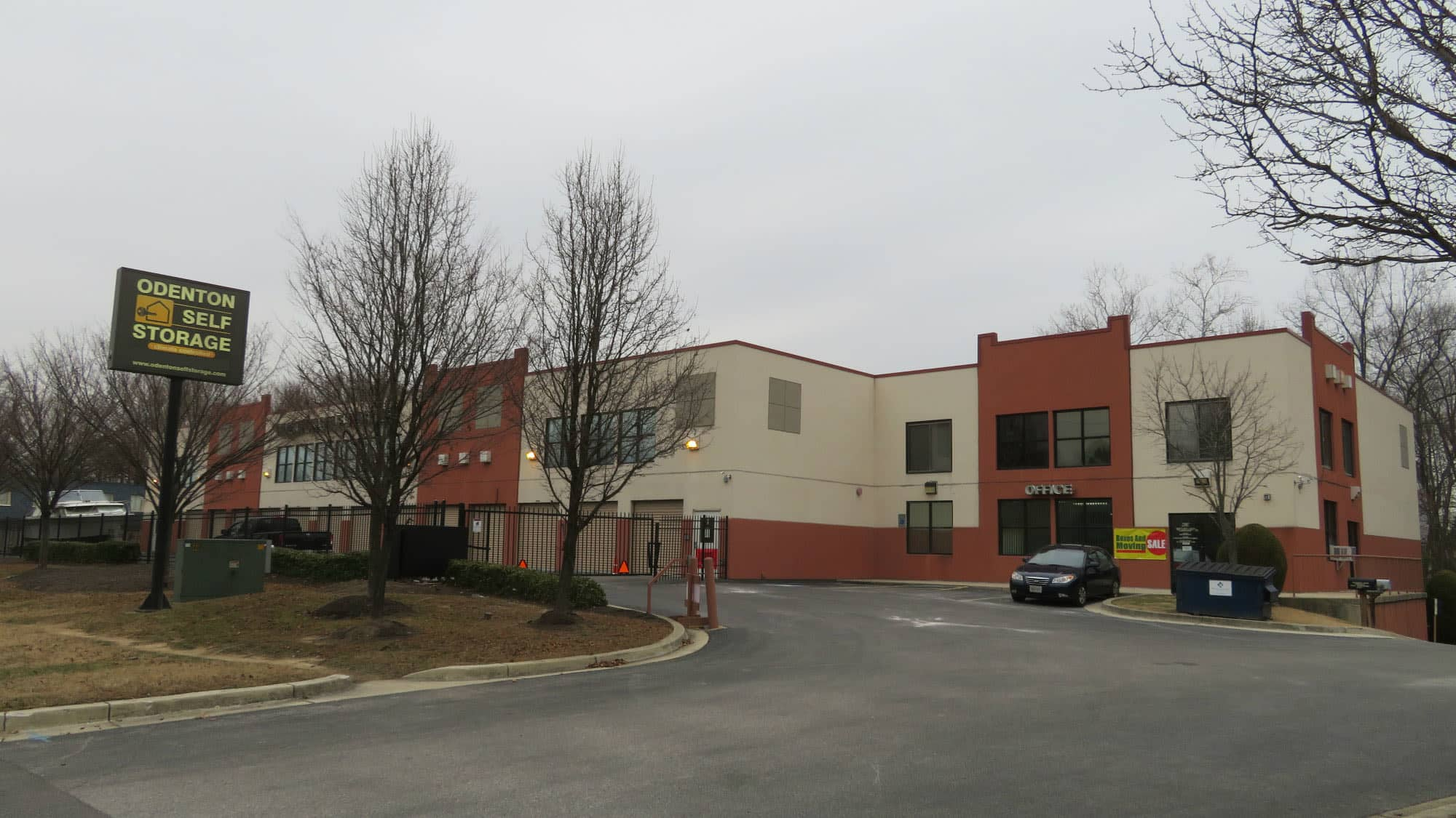 Exterior of Odenton Self Storage in Odenton, Maryland