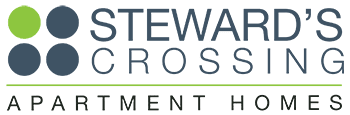 Steward's Crossing Apartment Homes logo in Lawrenceville, New Jersey