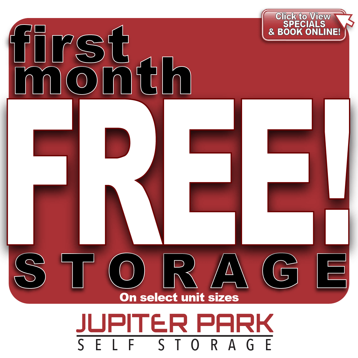Special at Jupiter Park Self Storage in Jupiter, Florida