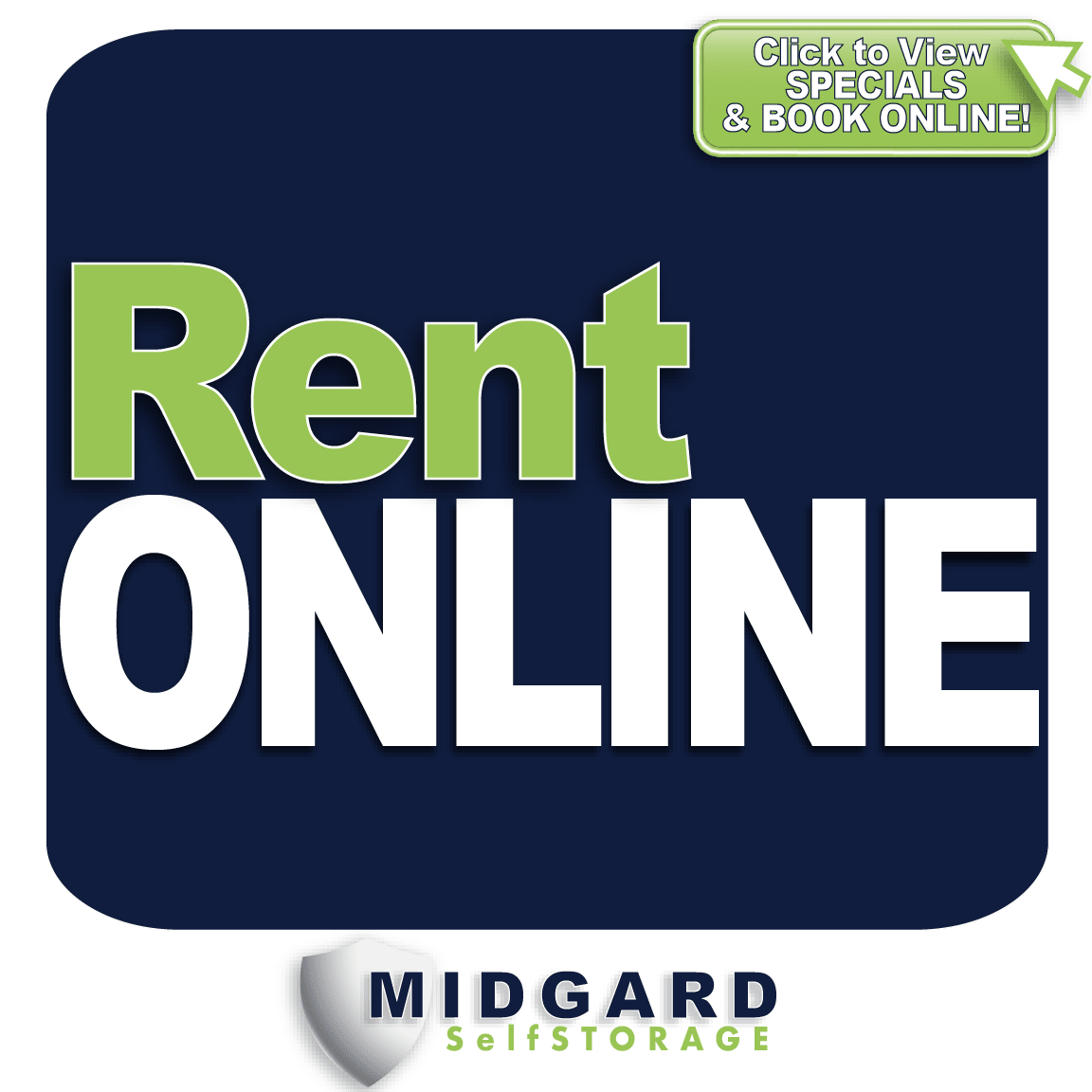1st month free Special at Midgard Self Storage in Murfreesboro, Tennessee
