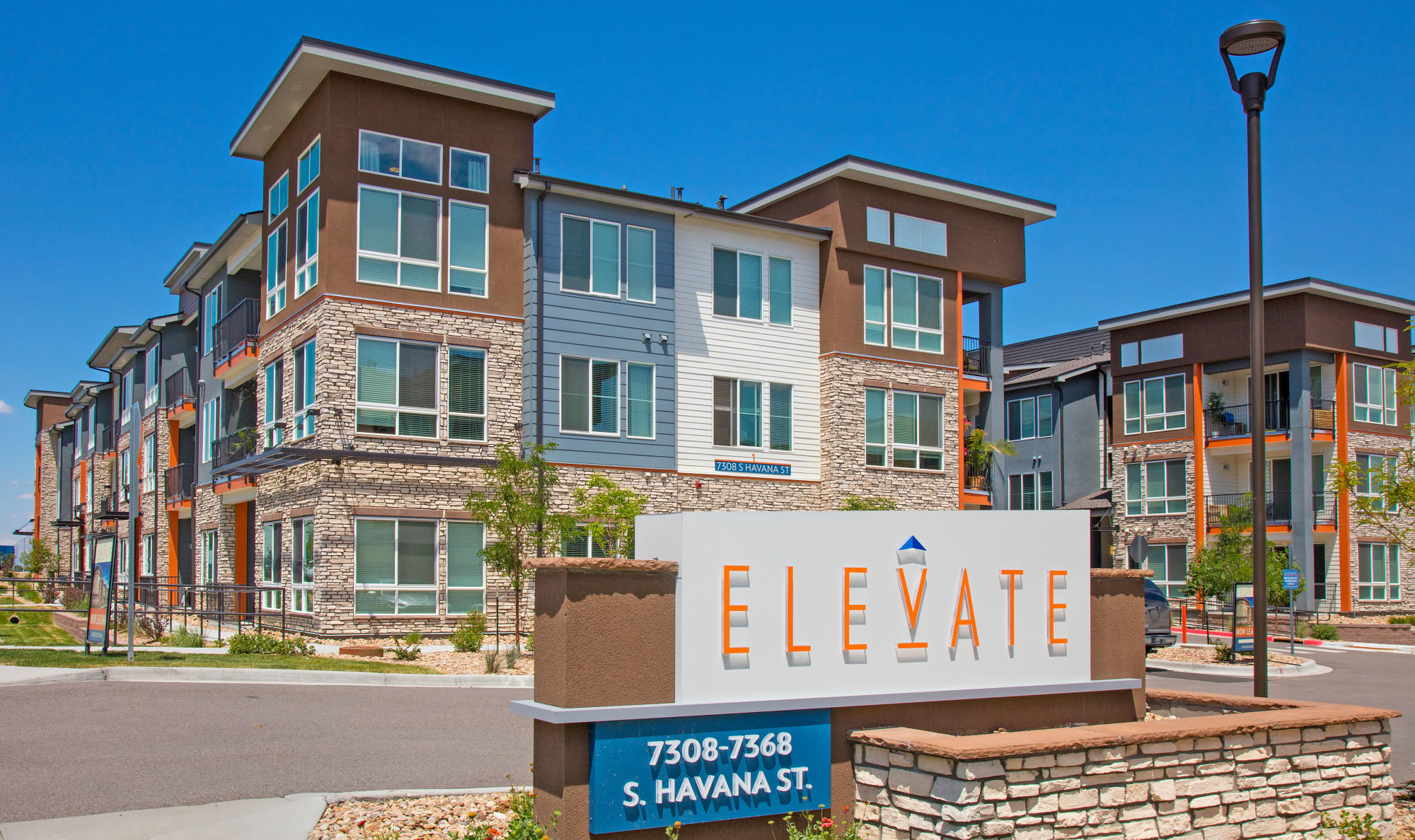 Exterior of building at Elevate in Englewood, Colorado