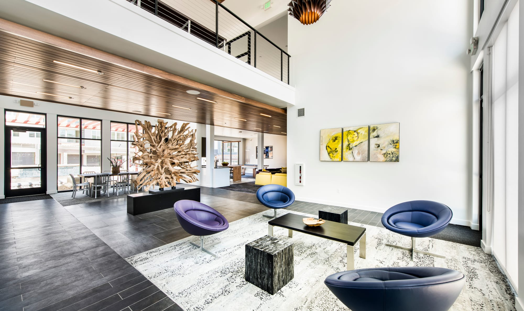 Large lounge area at Elevate in Englewood, Colorado