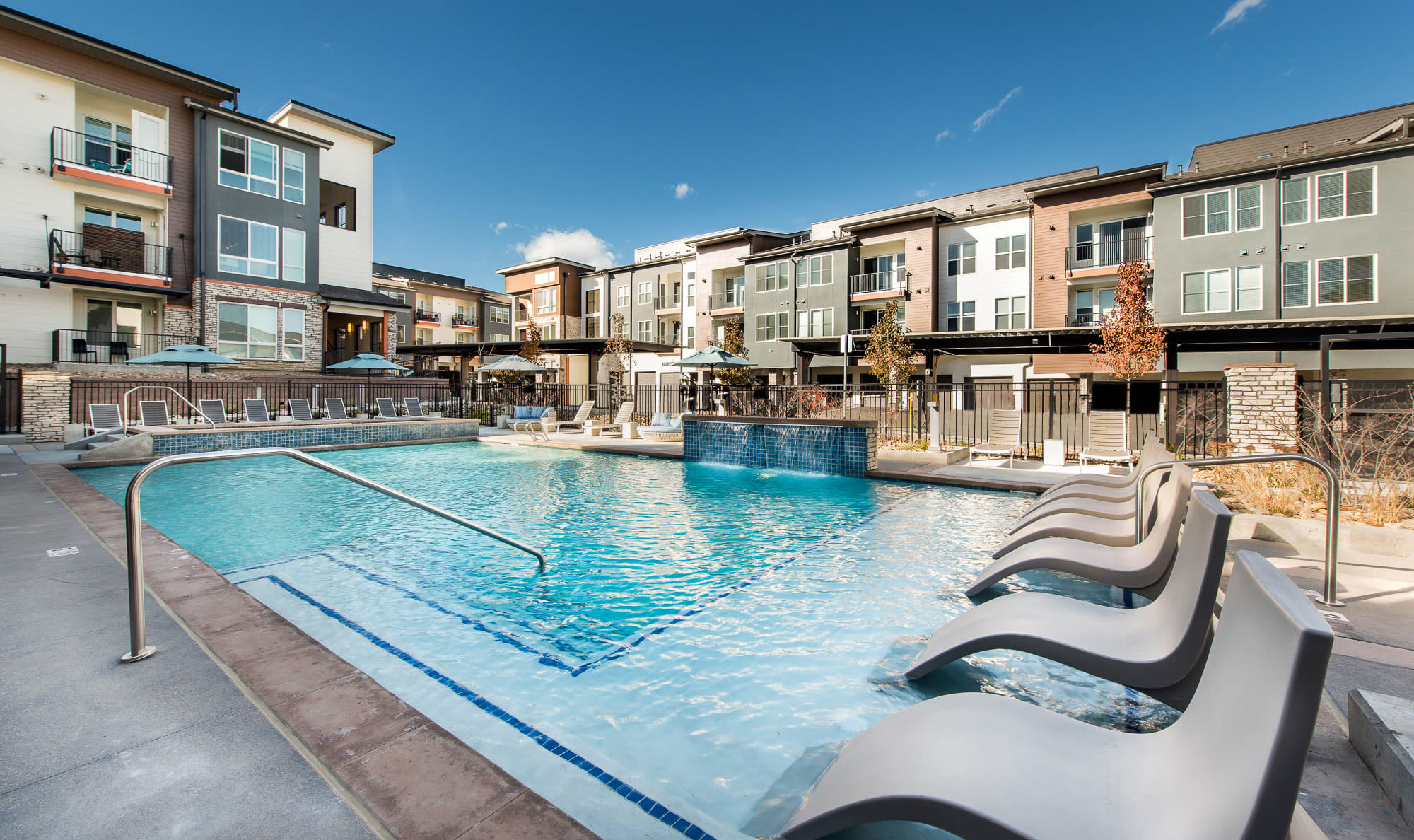 Pool side at Elevate in Englewood, Colorado