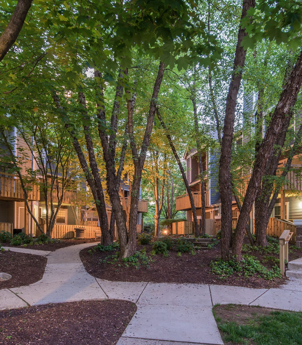 The courtyard at Timberlawn Crescent in North Bethesda, Maryland.