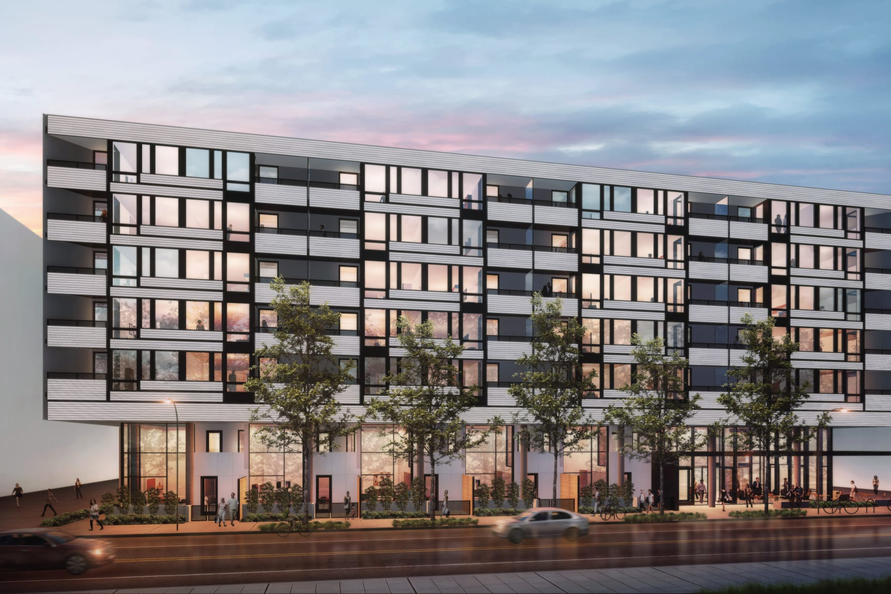 Exterior rendering of Blackbird in Redmond, Washington