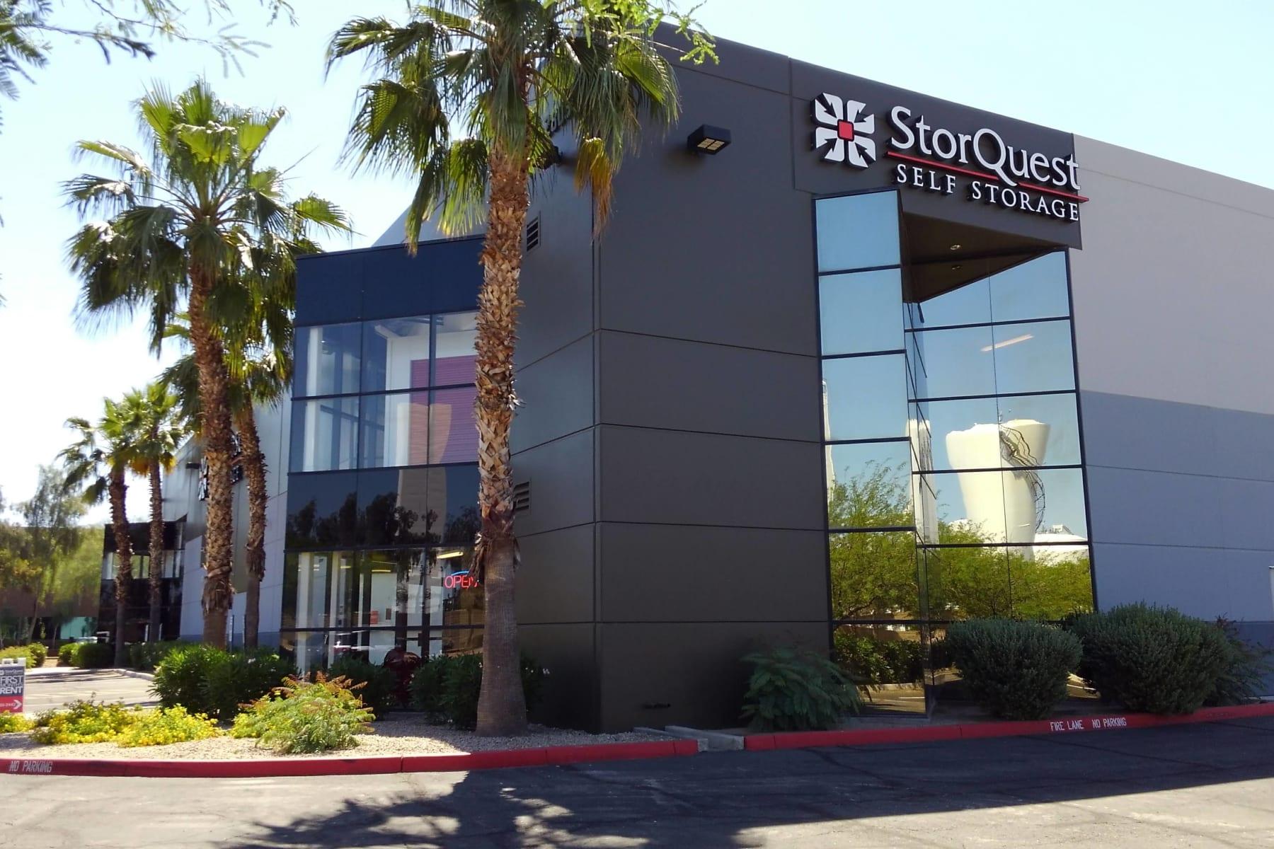 Store front at StorQuest Self Storage in Chandler, AZ