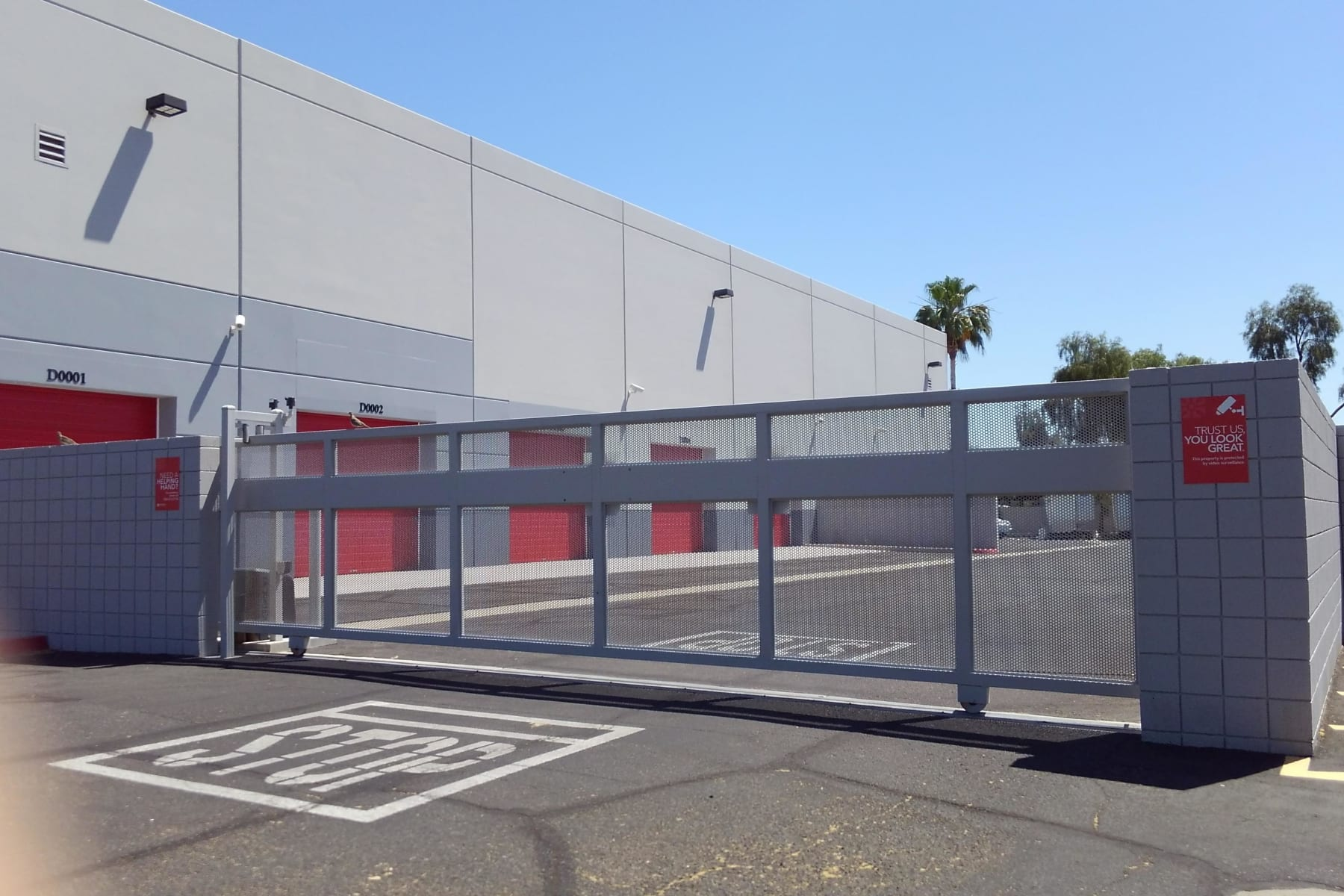 Gated entrance at StorQuest Self Storage in Chandler, AZ