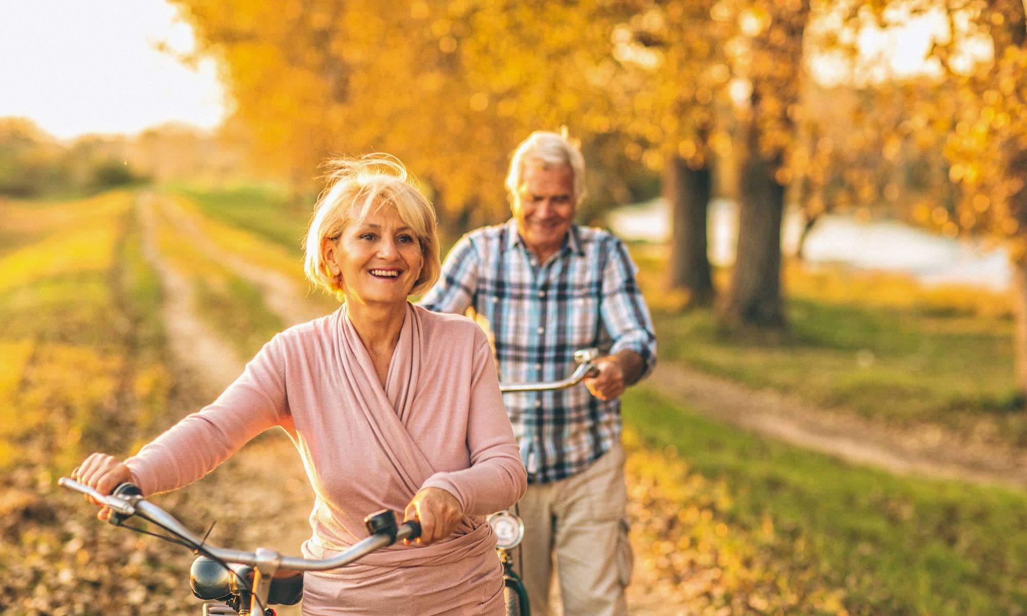 Residents taking a walk in Modesto, California