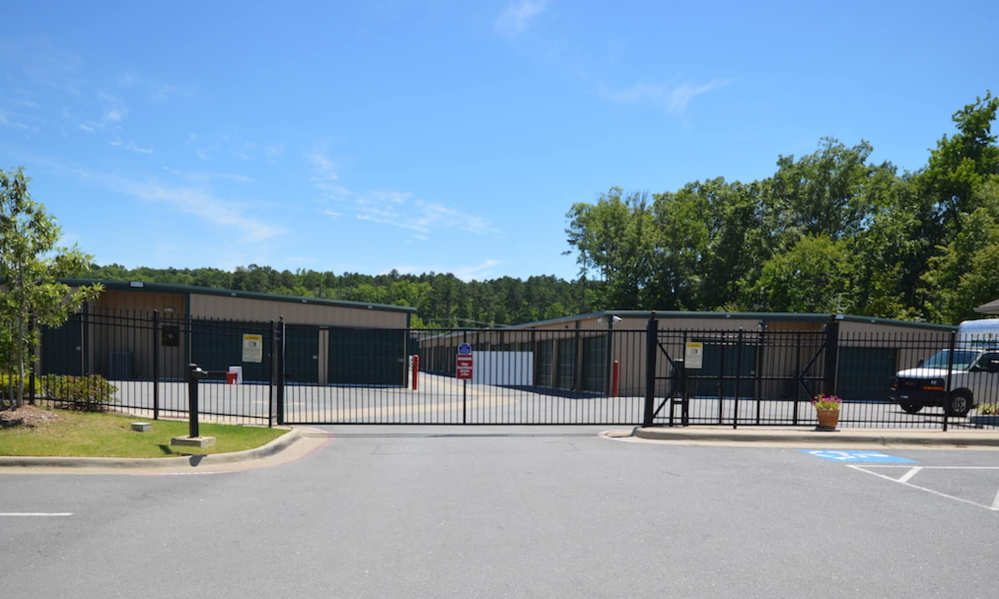Chenal Storage Center gated entrance in Little Rock, AR
