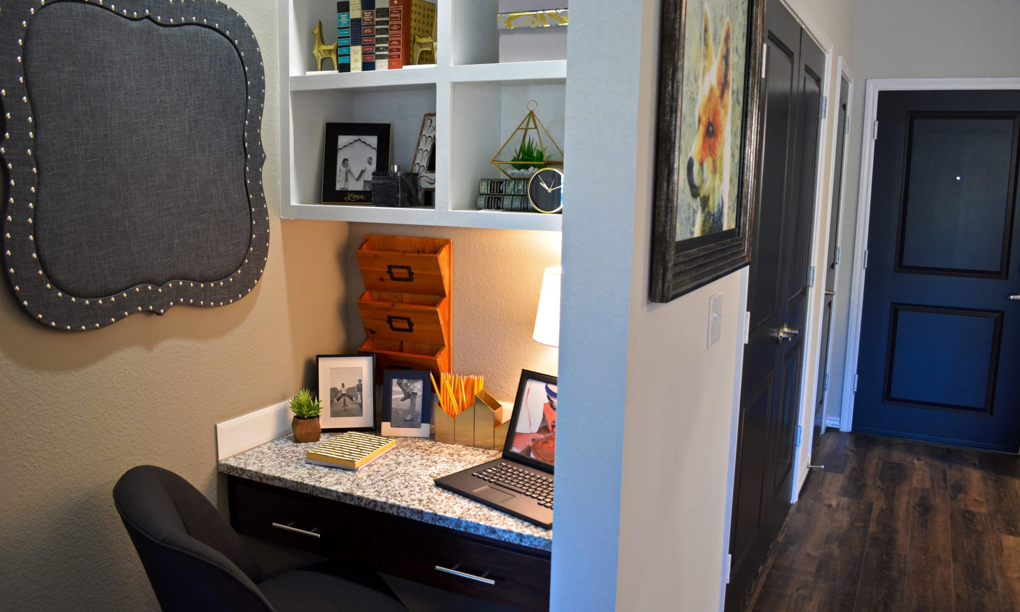 Beautiful built-in desk The Abbey at Dominion Crossing in San Antonio, TX