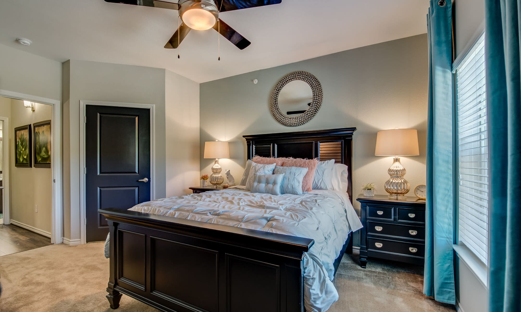Spacious bedroom at apartments & townhomes in San Antonio, TX