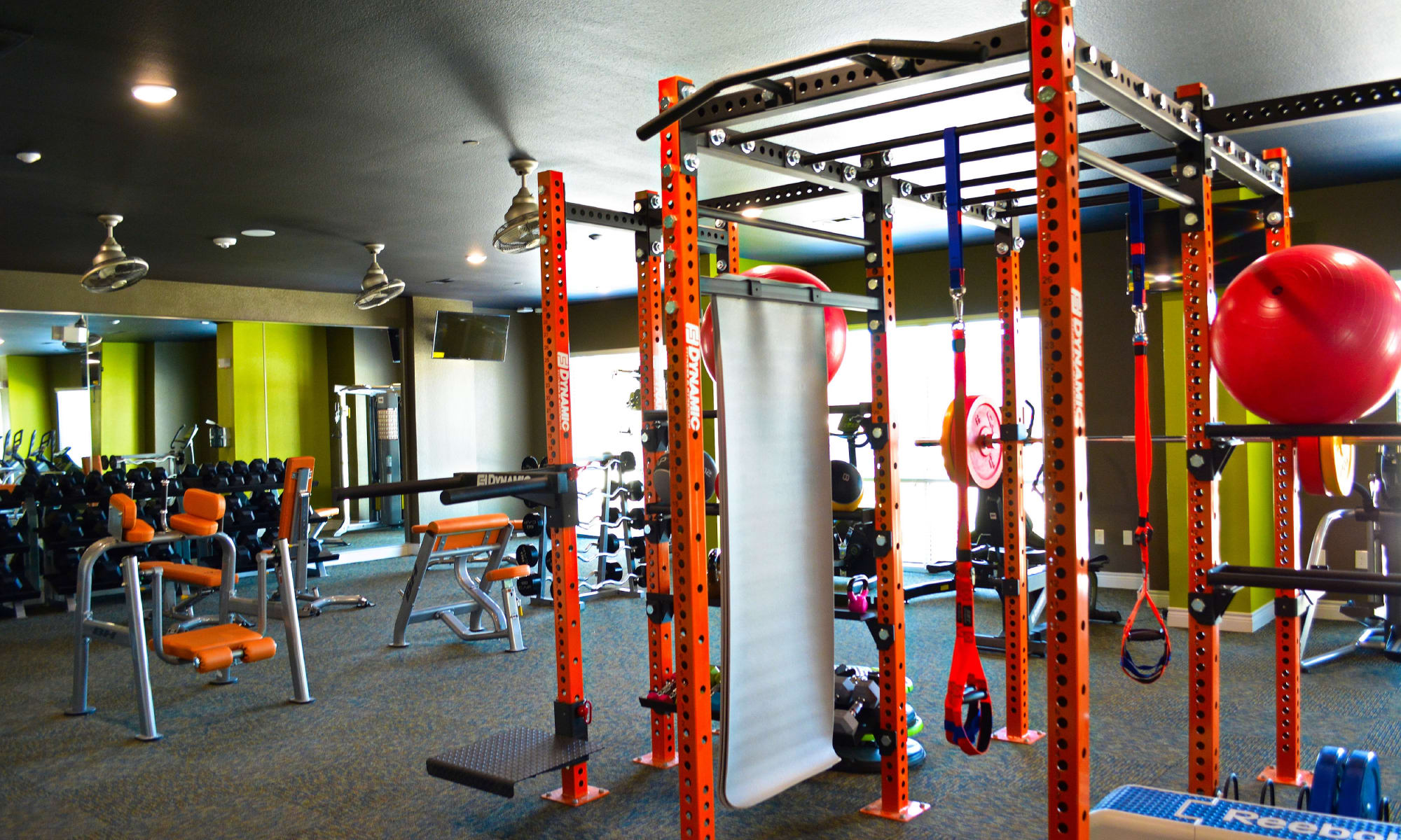 Luxury fitness center at apartments & townhomes in San Antonio, TX