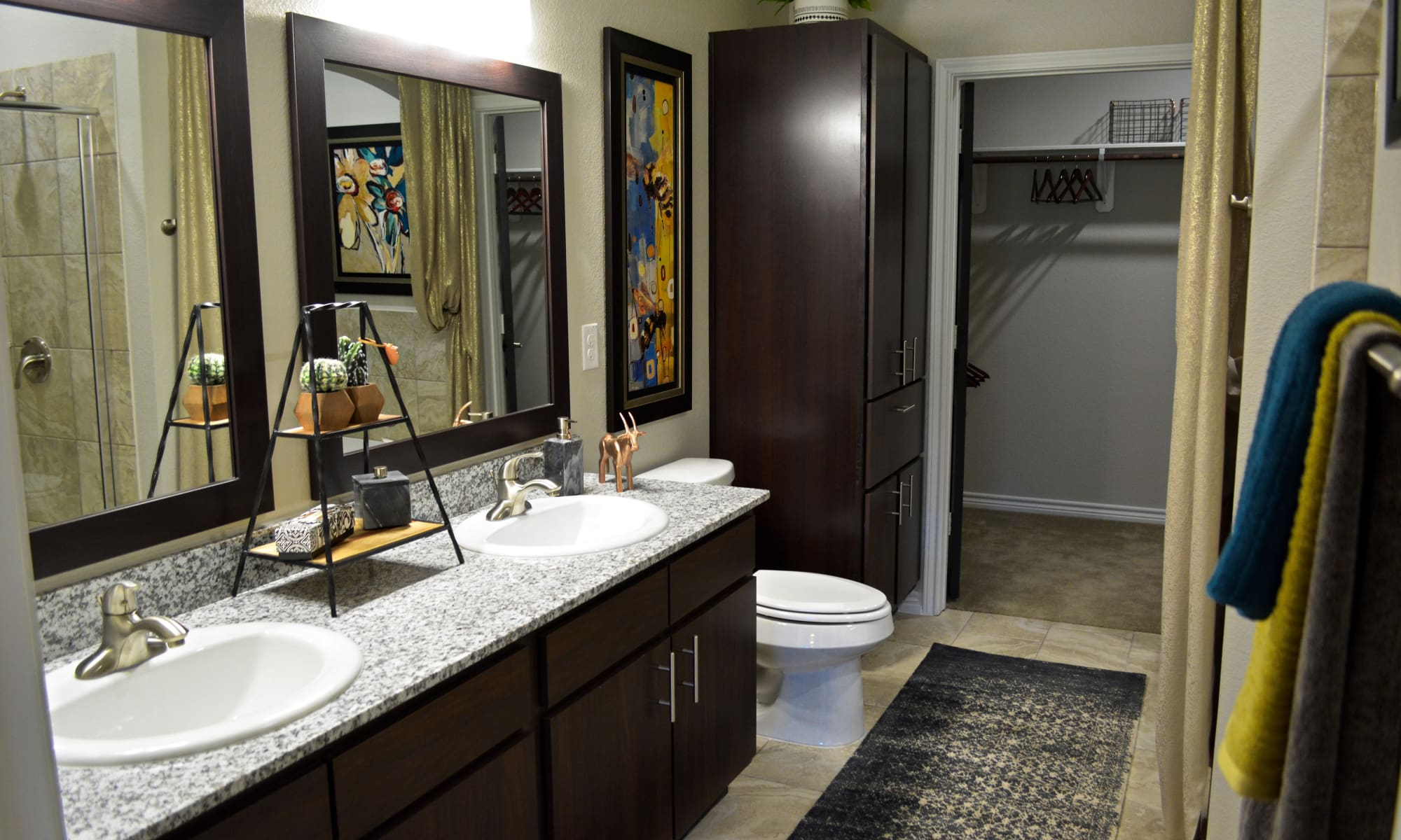 Luxury bathroom at The Abbey at Dominion Crossing in San Antonio, TX