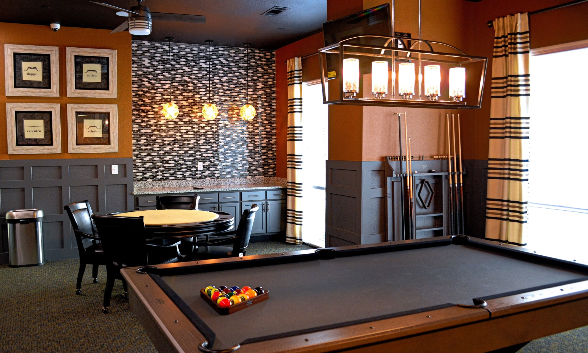 A clubhouse that is great for entertaining at apartments & townhomes in San Antonio, TX