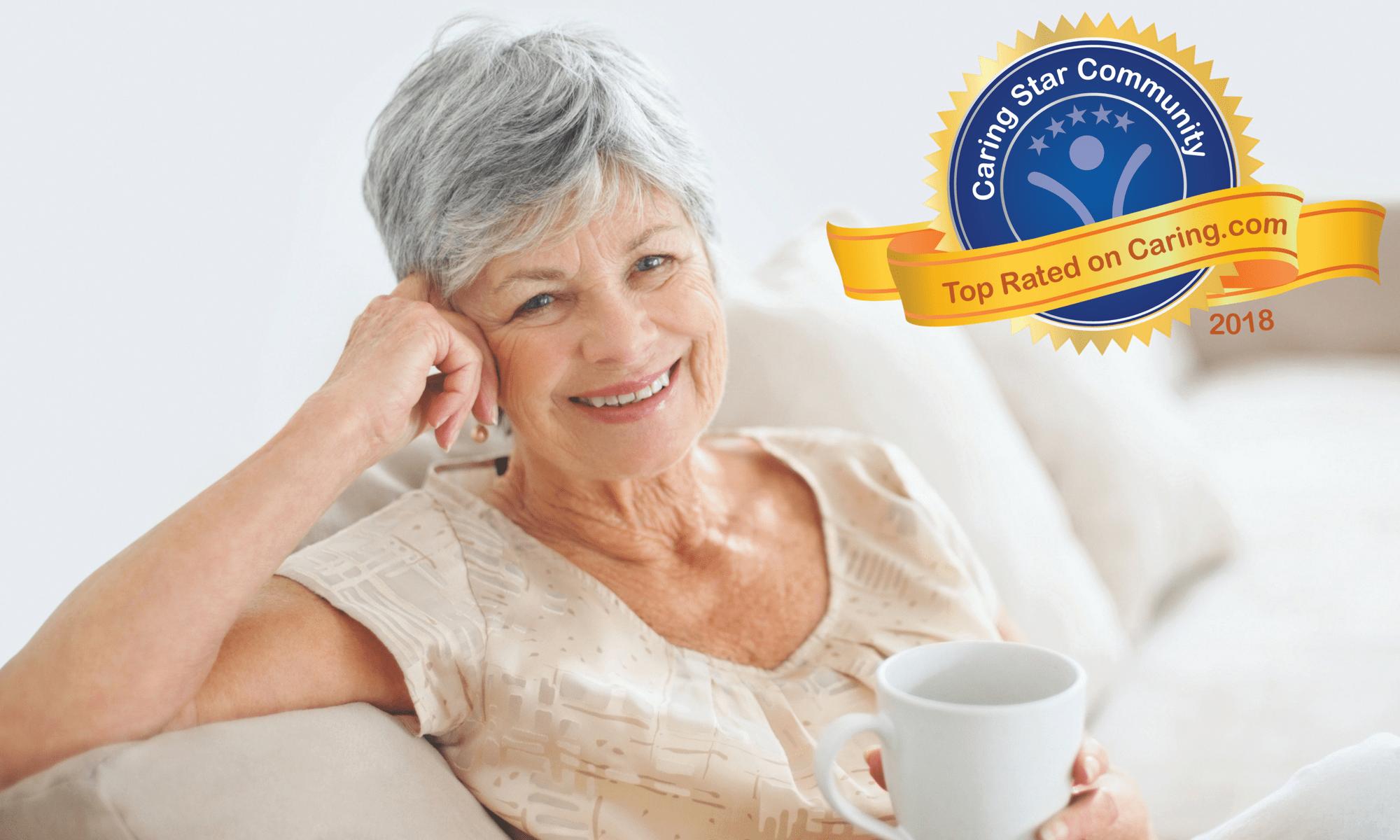 Beautiful older woman at Pacifica Senior Living: Riverside Legacies Memory Care