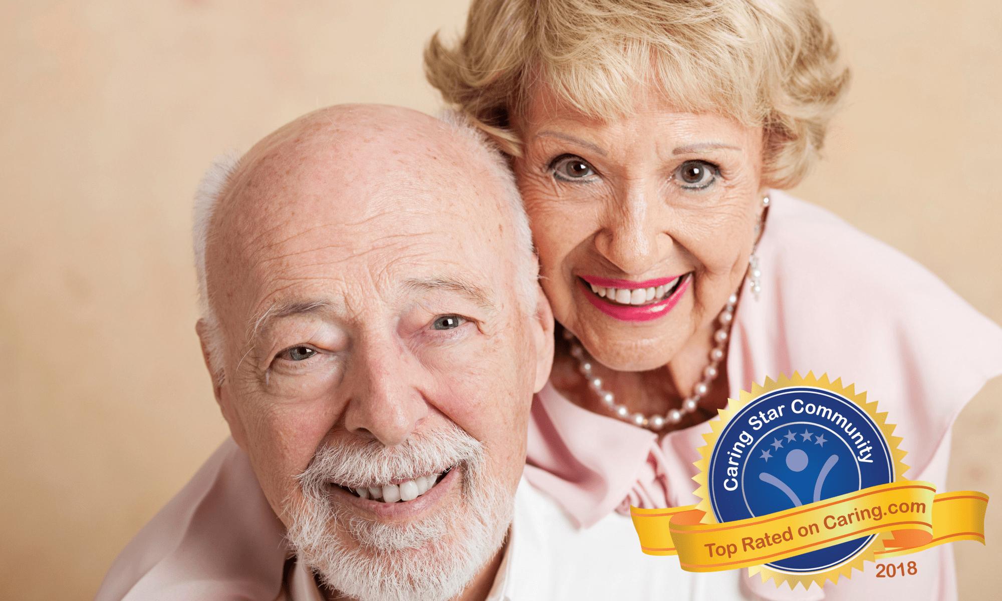Senior couple at Pacifica Senior Living: Riverside Legacies Memory Care